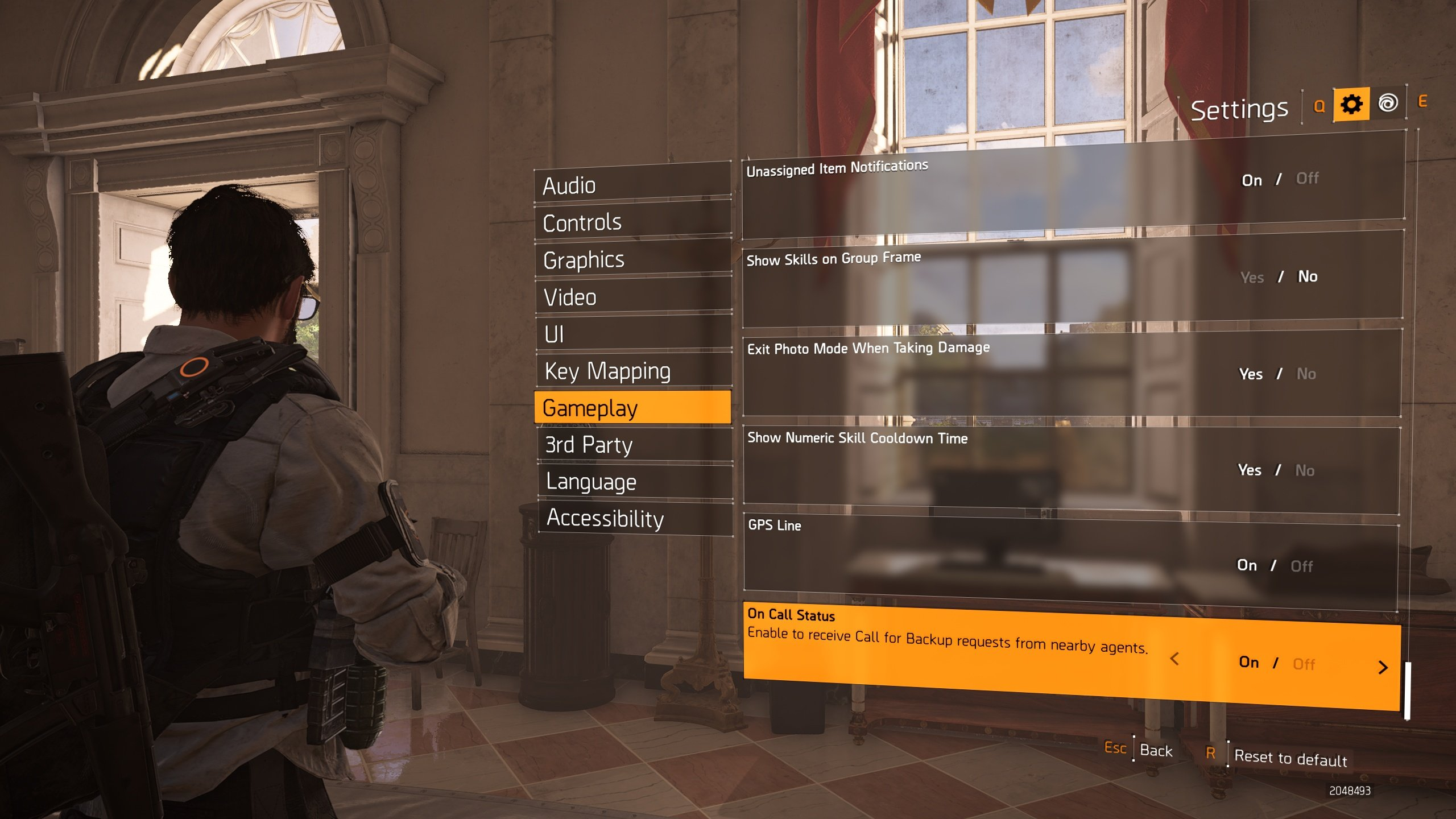 how to disable 'agent needs backup' calls in The Division 2