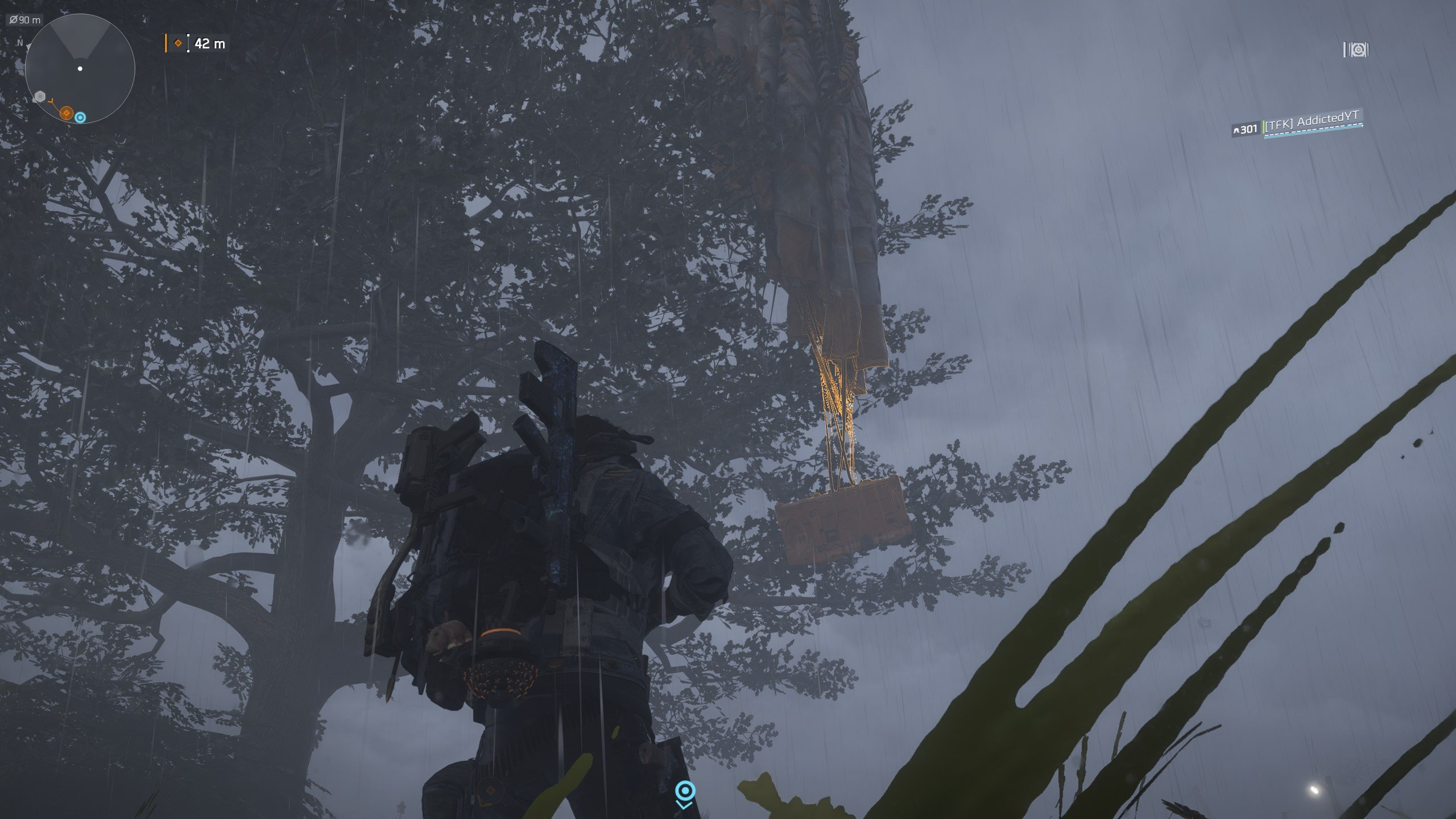 how to find dye locations - dye container hanging from a tree