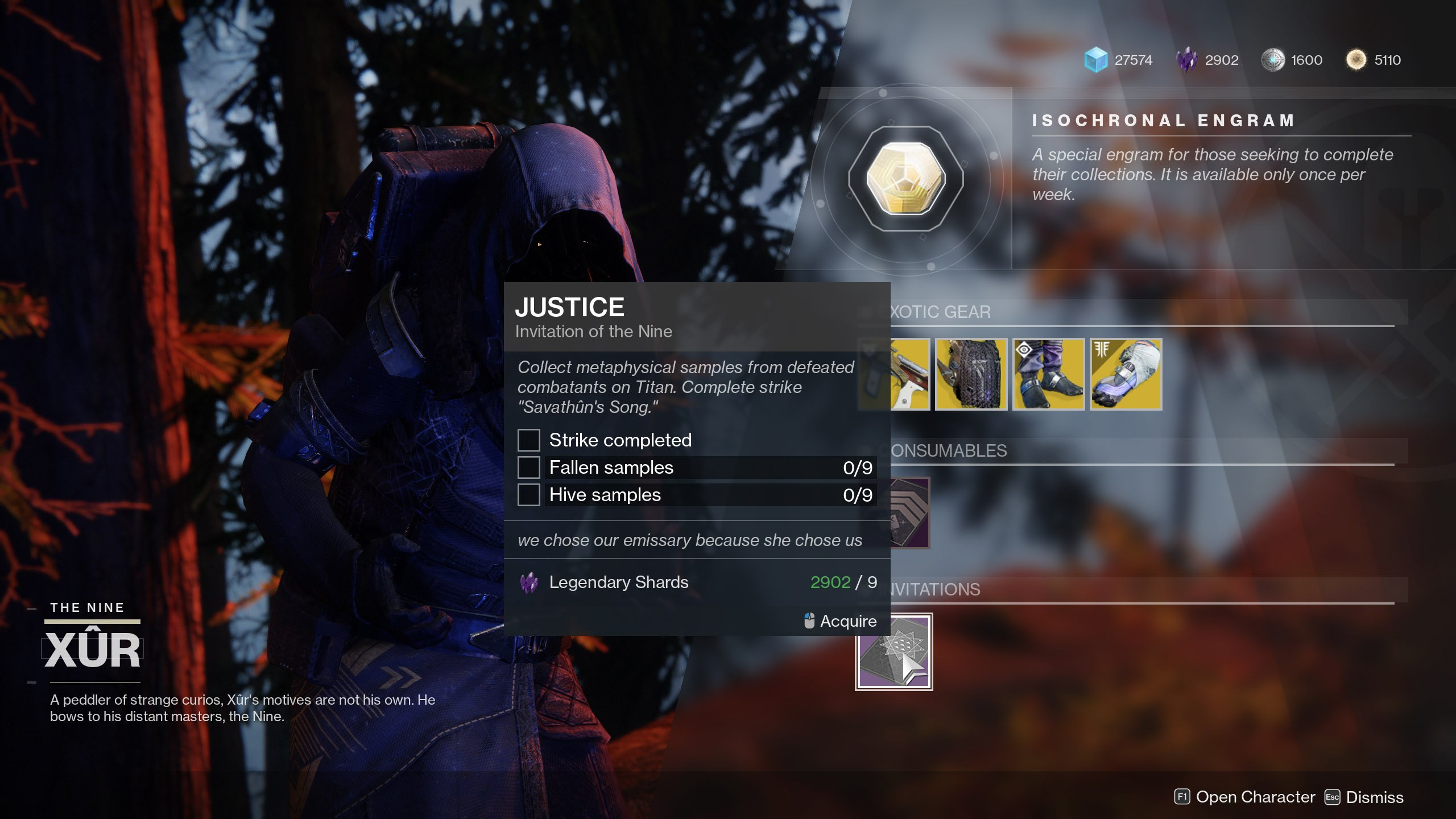 Justice Invitation of the Nine Destiny 2