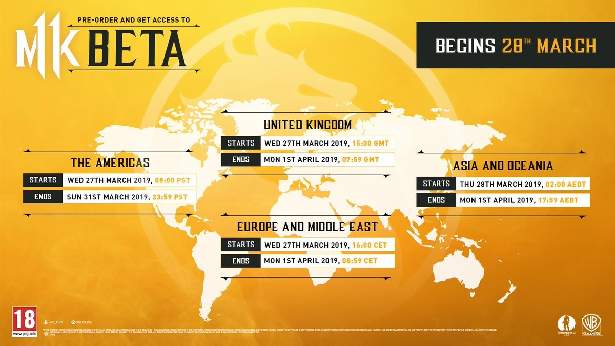 Mortal Kombat 11 console beta set for end of March