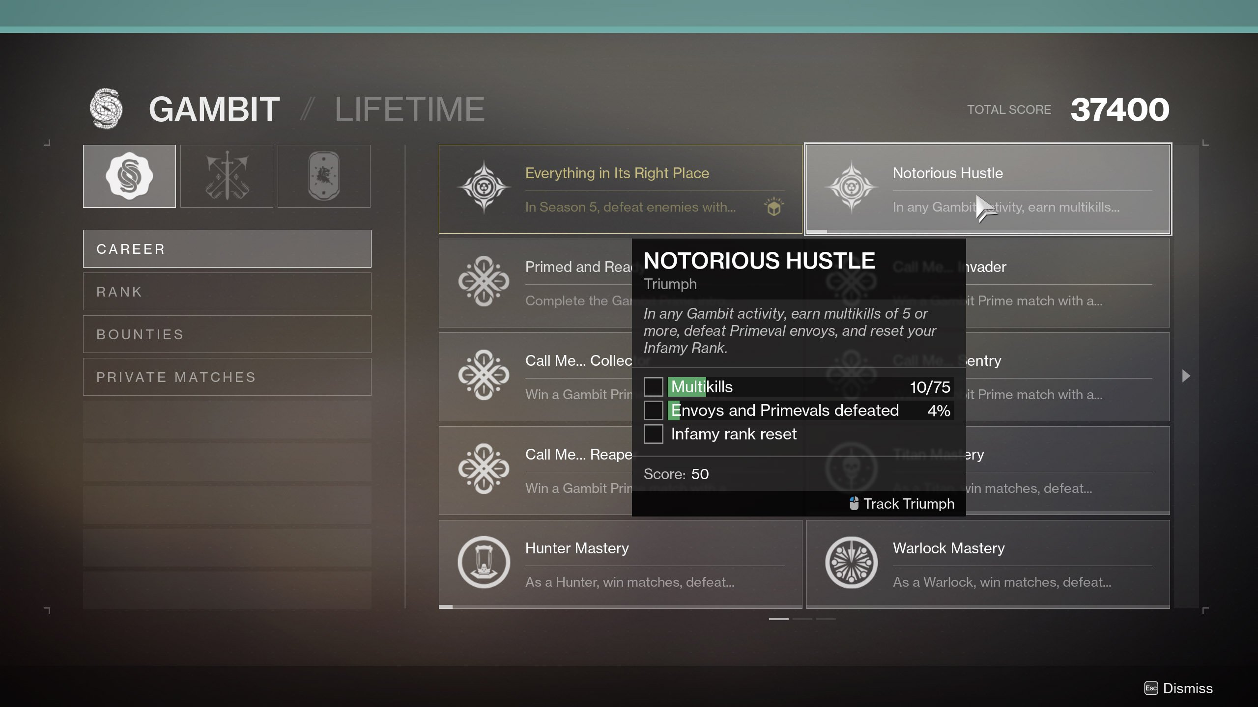 How to Get the 21% Delirium pinnacle weapon in Destiny 2