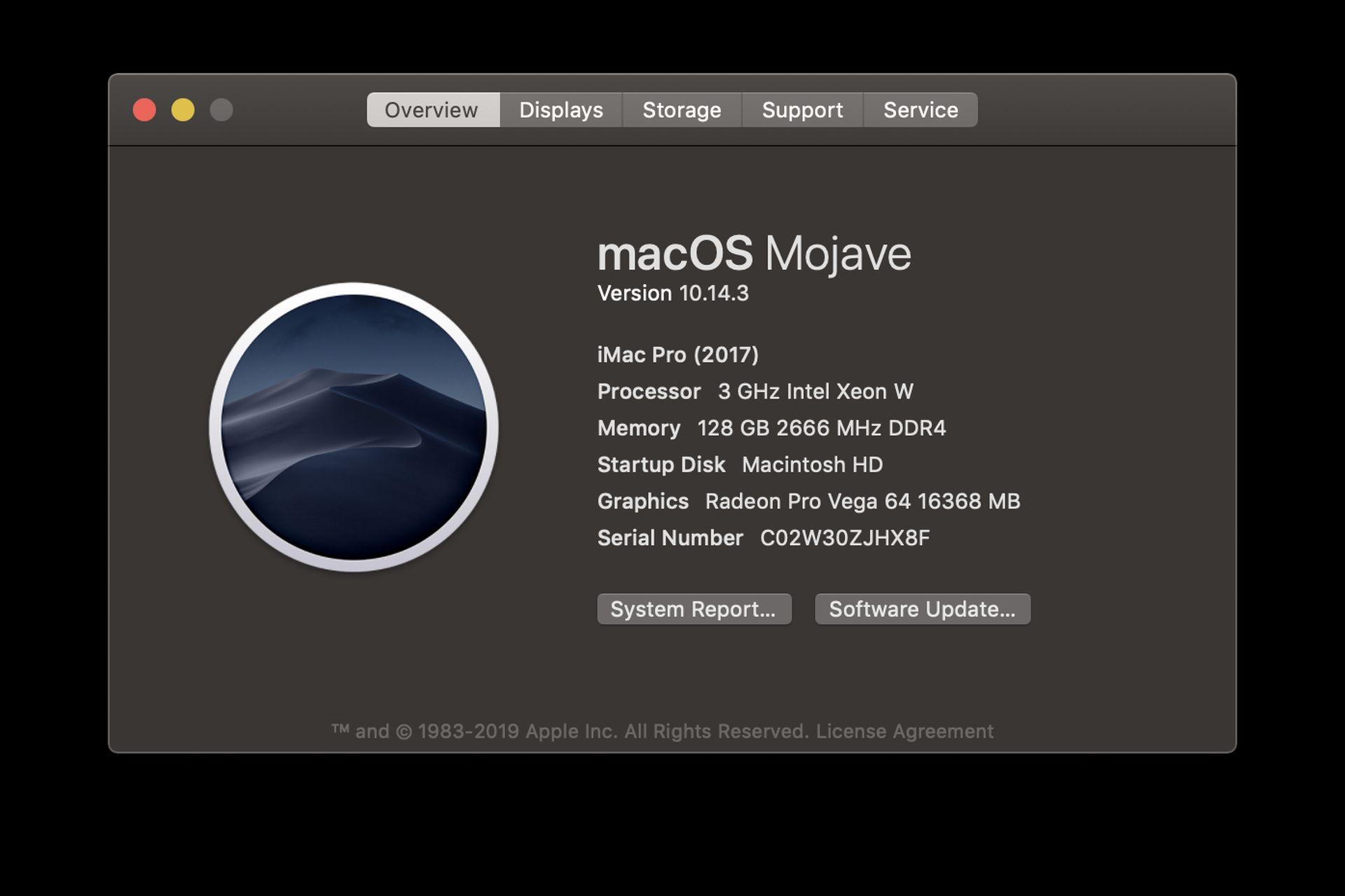 Top: Romero at his iMac. Bottom: A closer look at Romero's iMac specs. (Images courtesy of John Romero.)