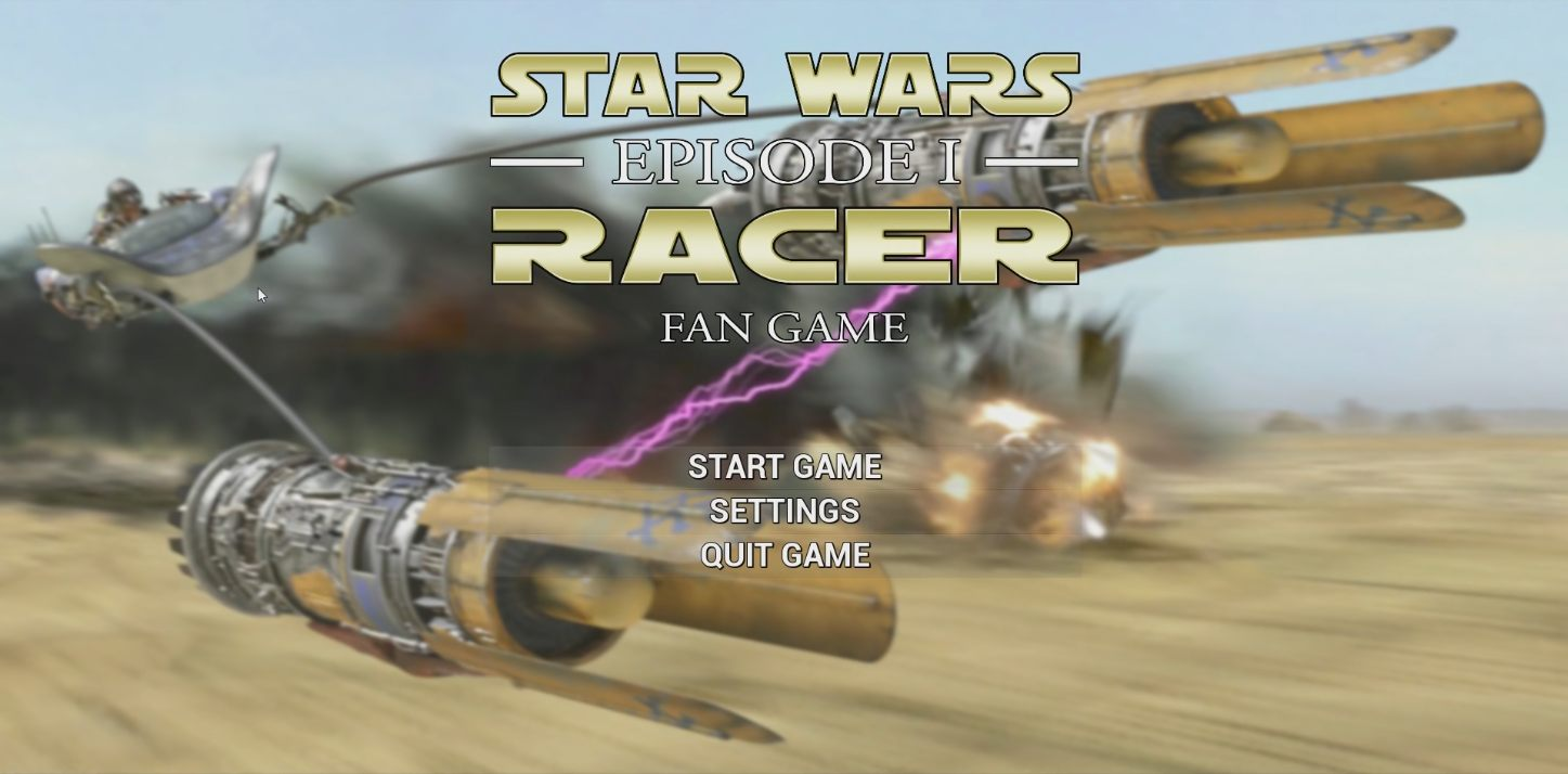 Star Wars Episode 1 Racer Podracer podracing gameplay unreal engine 4 fanmade