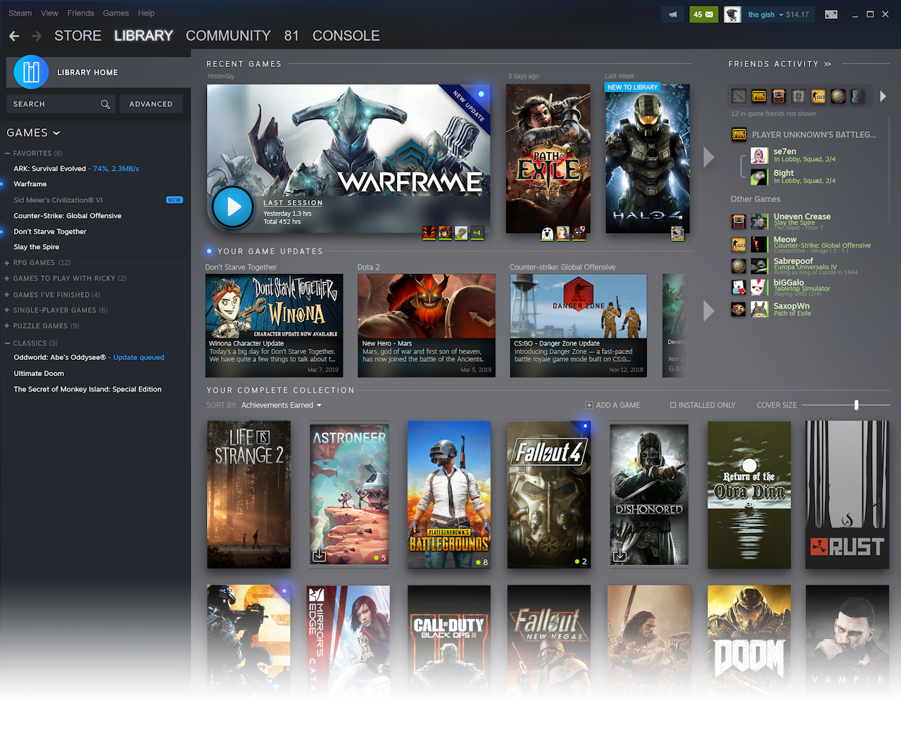 The new Steam UI redesign, in all its glory.