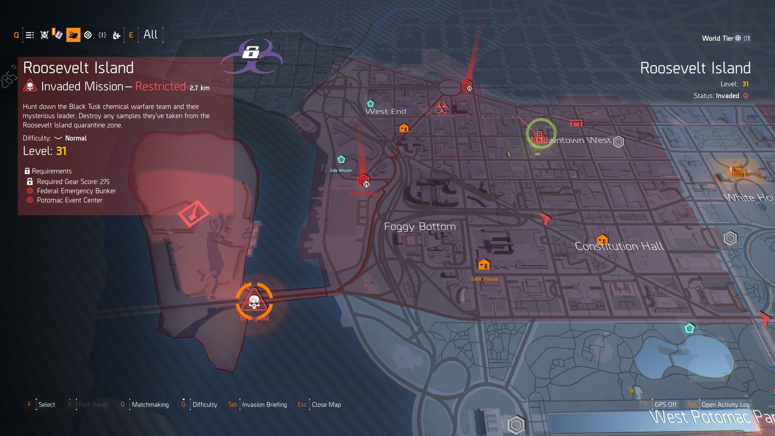 Black Tusk Strongholds in The Division 2