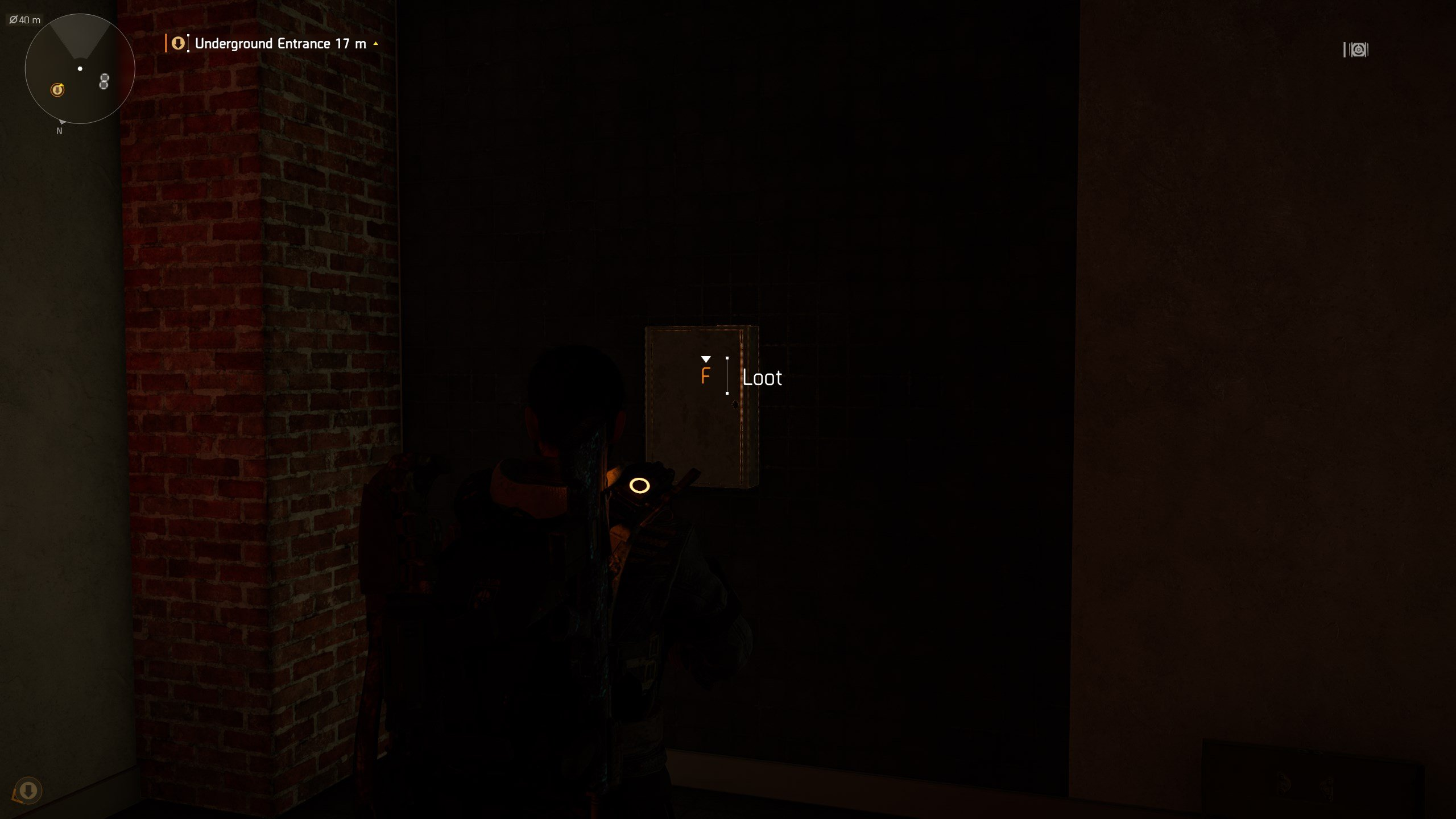 How to get Faction Cache Keys in The Division 2 - lootable key box glowing in the tunnels