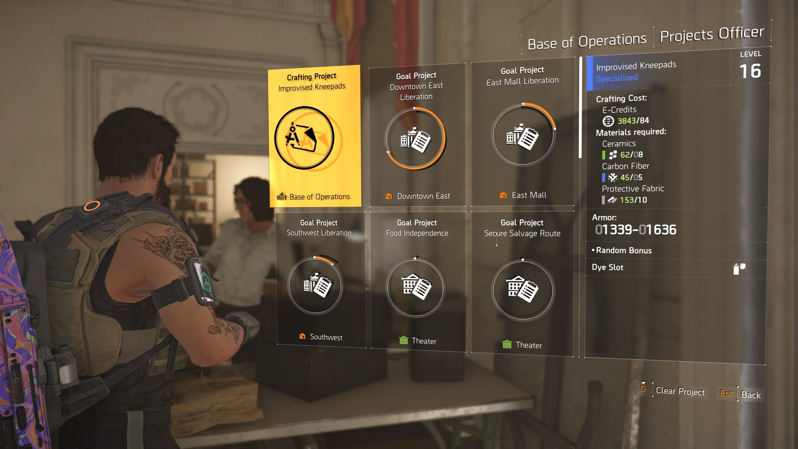 The Division 2 crafting projects