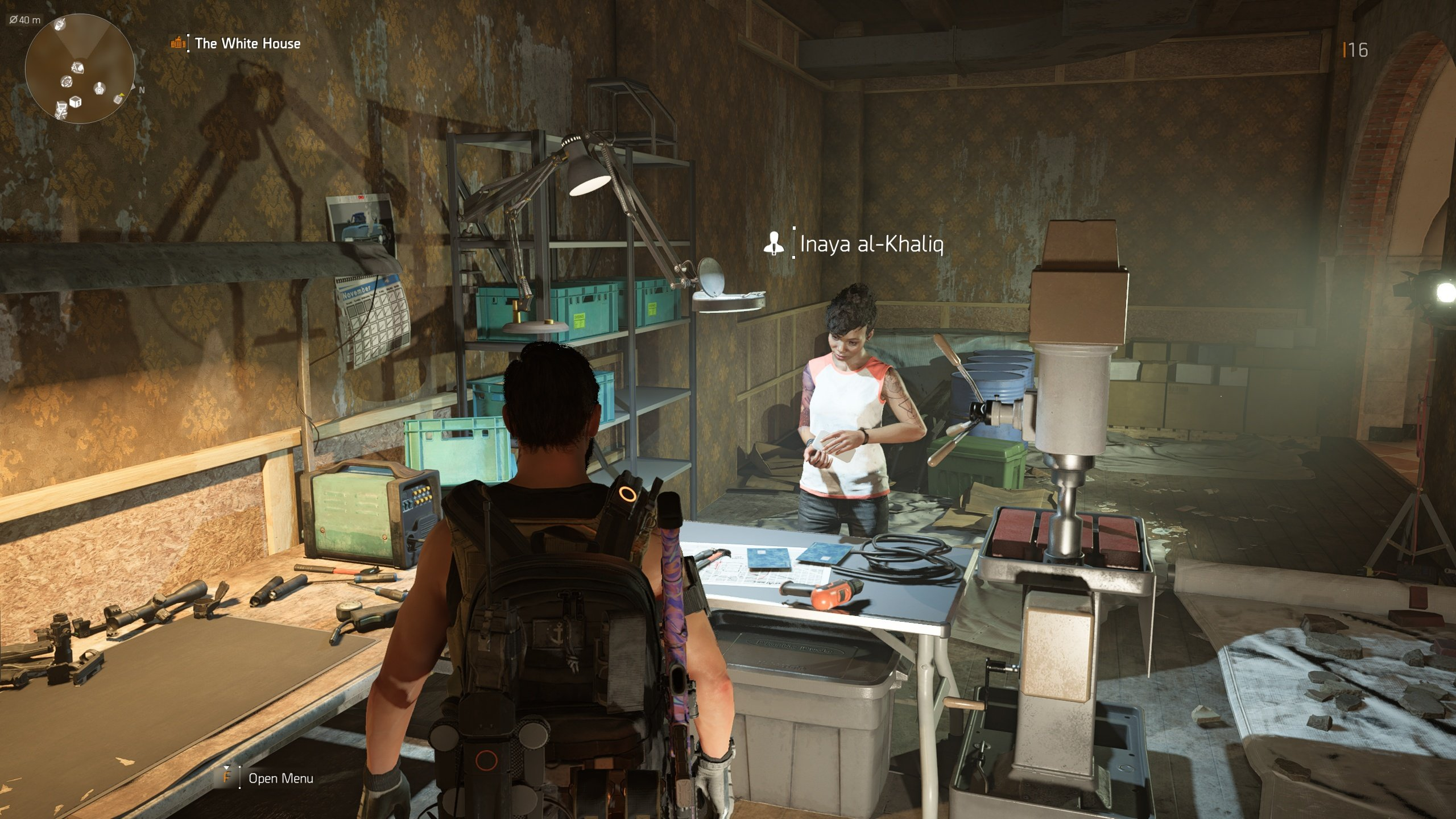 Talk to Inaya to unlock crafting in The Division 2.