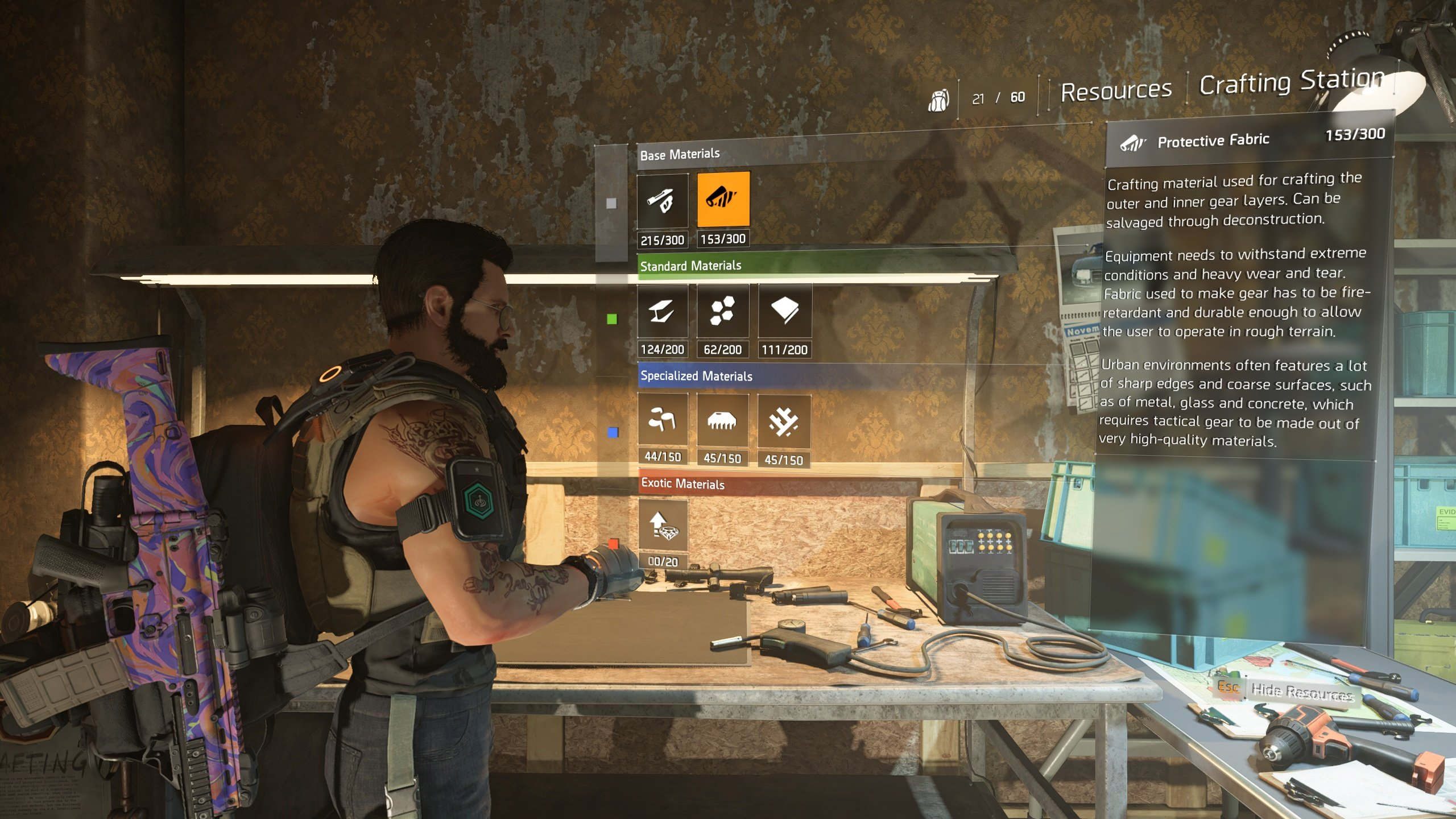 The Division 2 resource screen