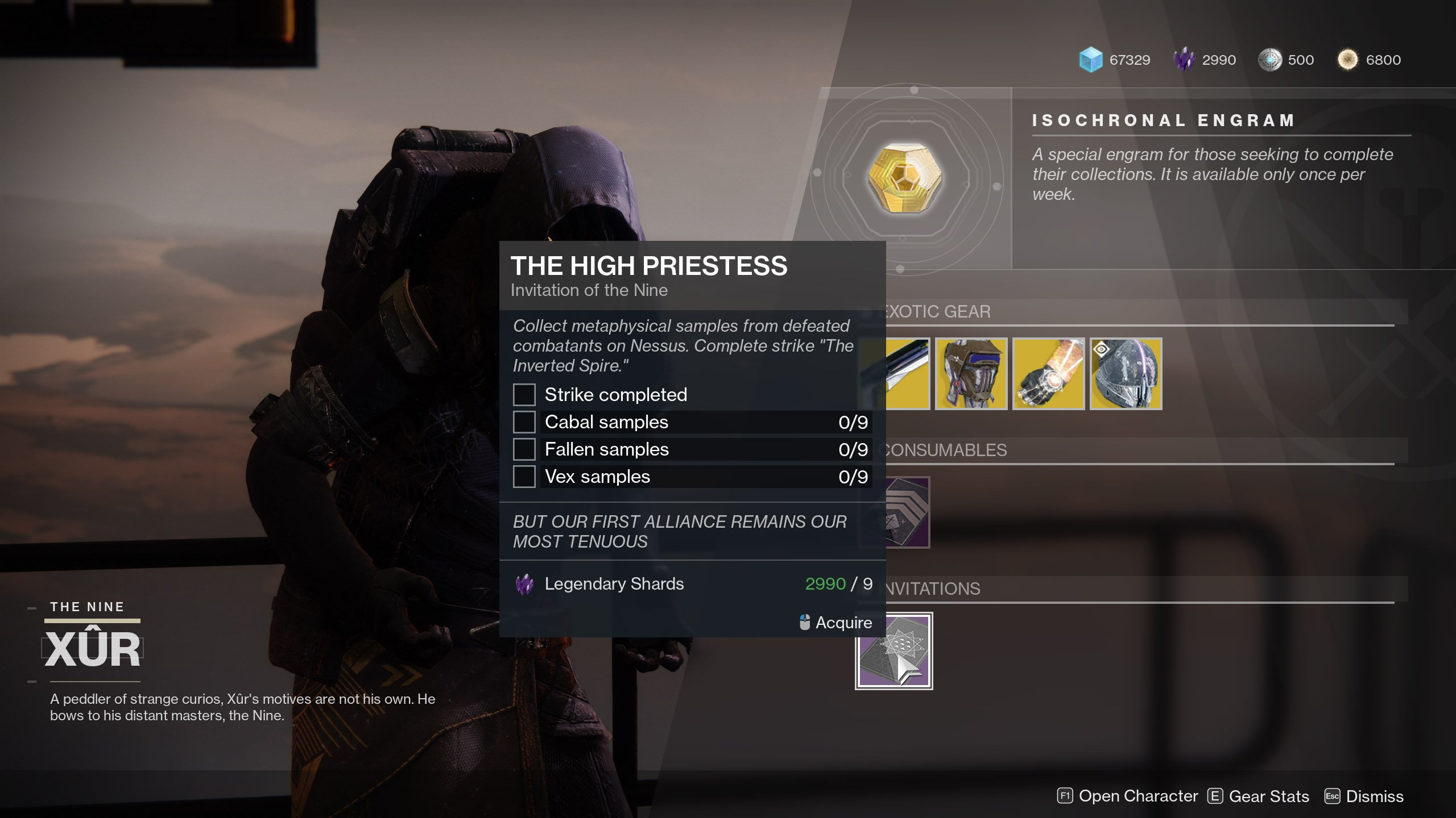 The High Priestess Quest Step Destiny 2