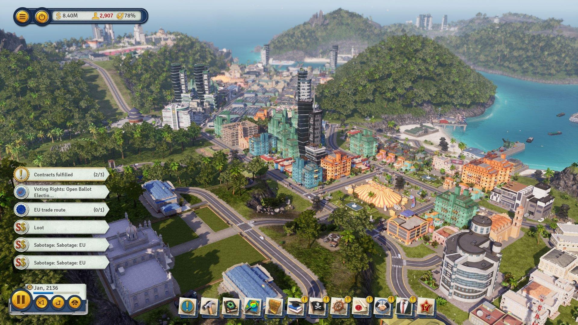 Tropico 6 launch trailer city sim management