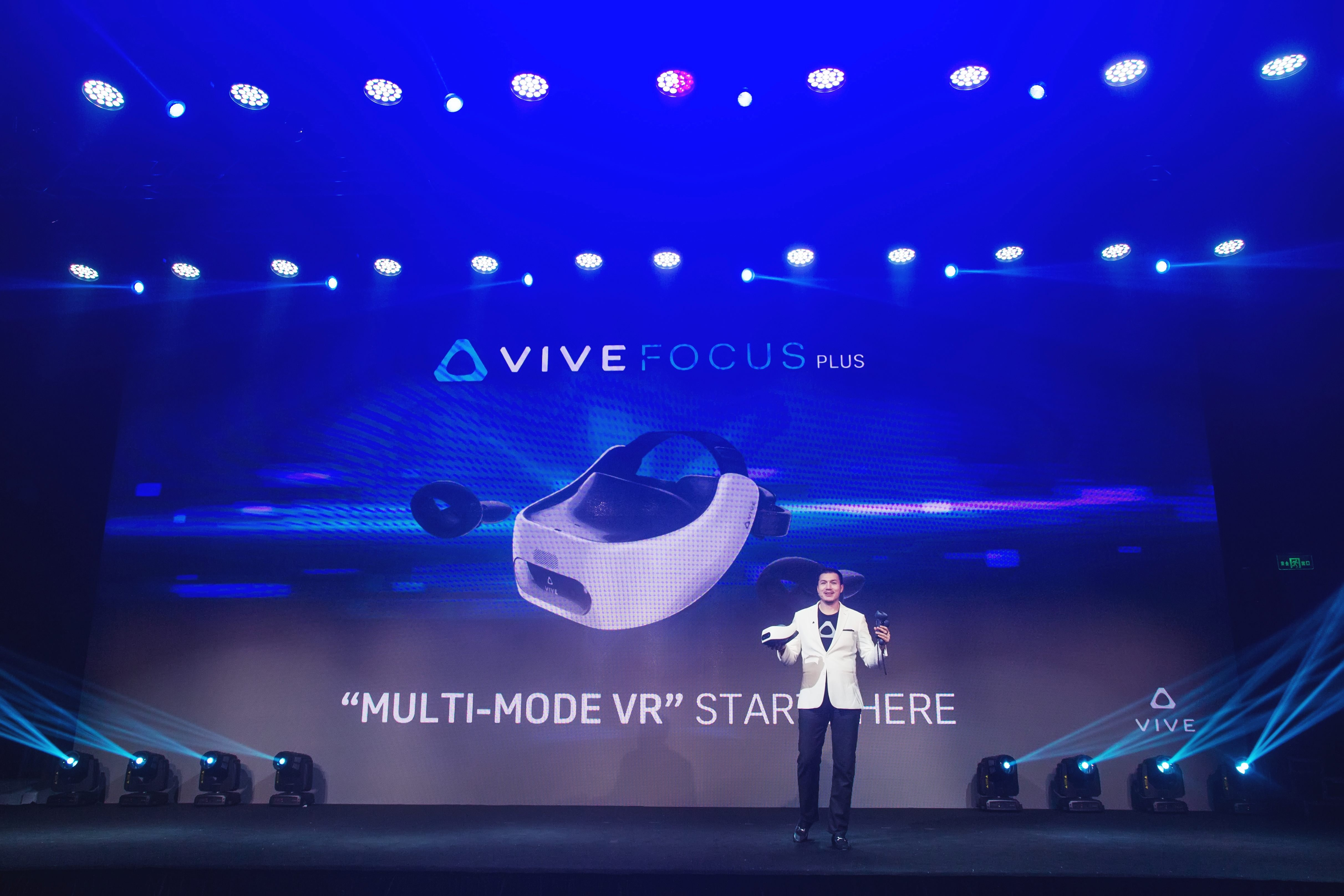 Vive Focus Plus VR HTC HMD price availability Ecosystem Conference