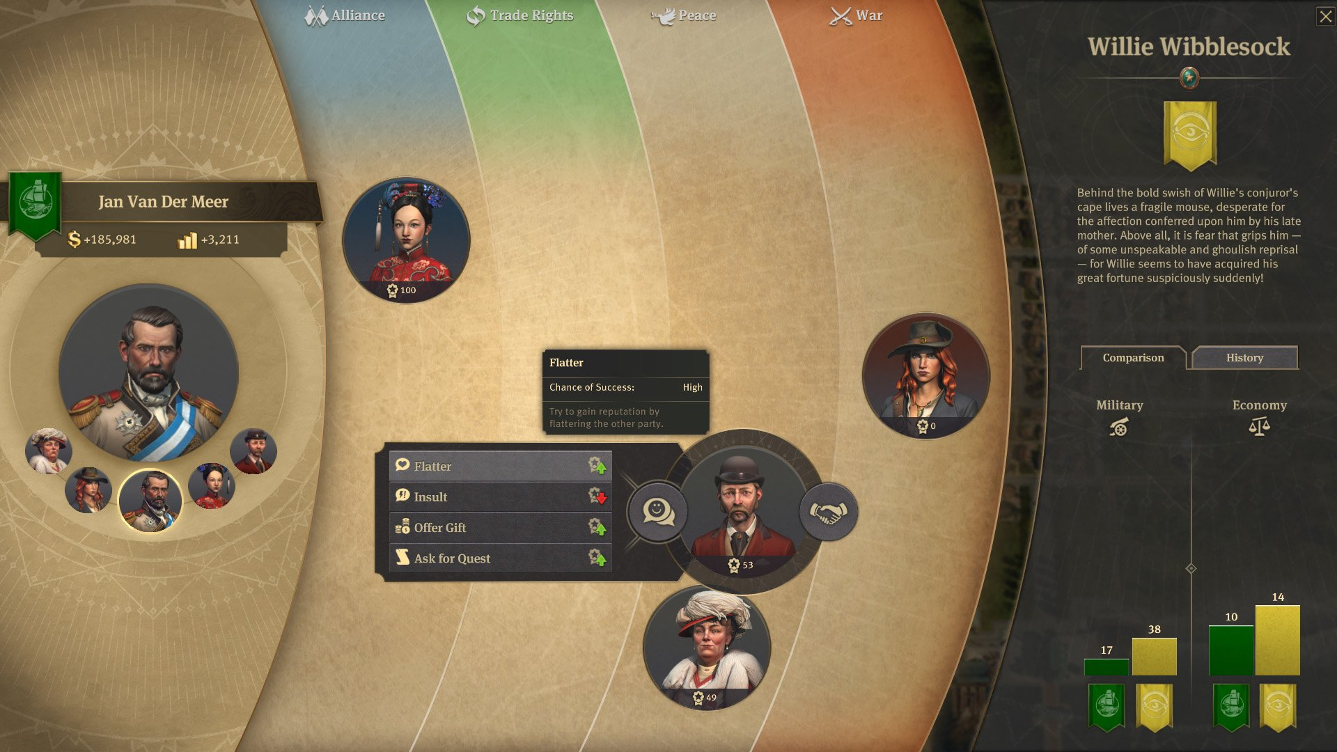 Diplomatic relations are as important in Anno 1800 as they are in real life.
