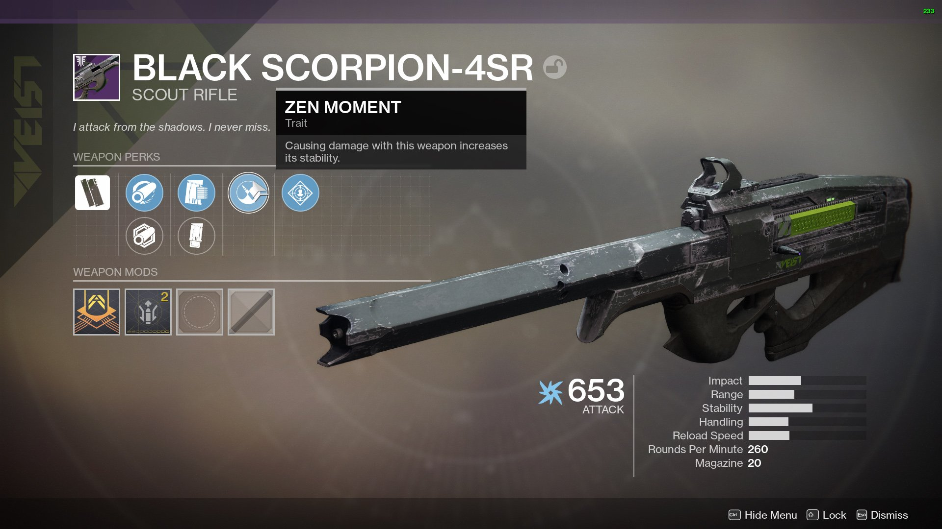 Black Scorpion Destiny 2