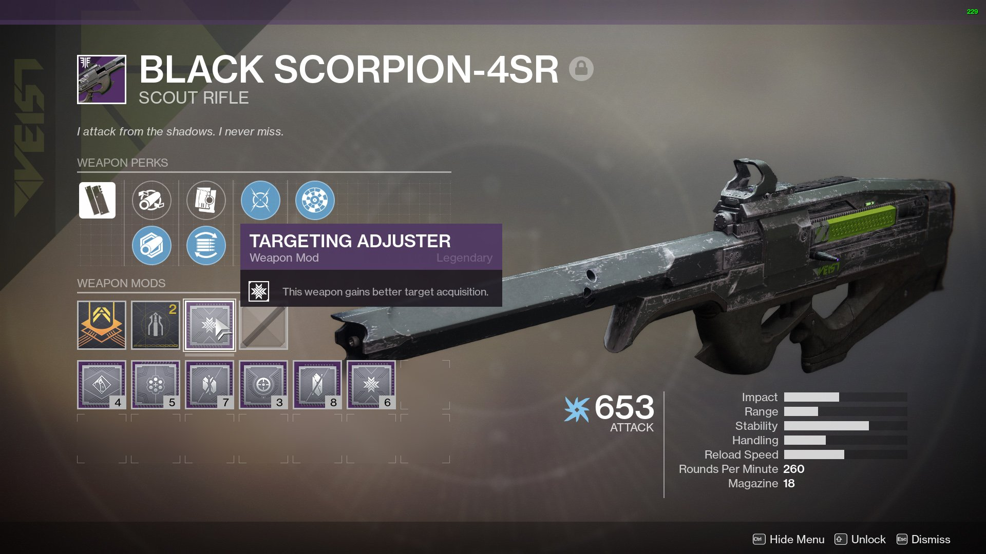 Black Scorpion-4SR god roll