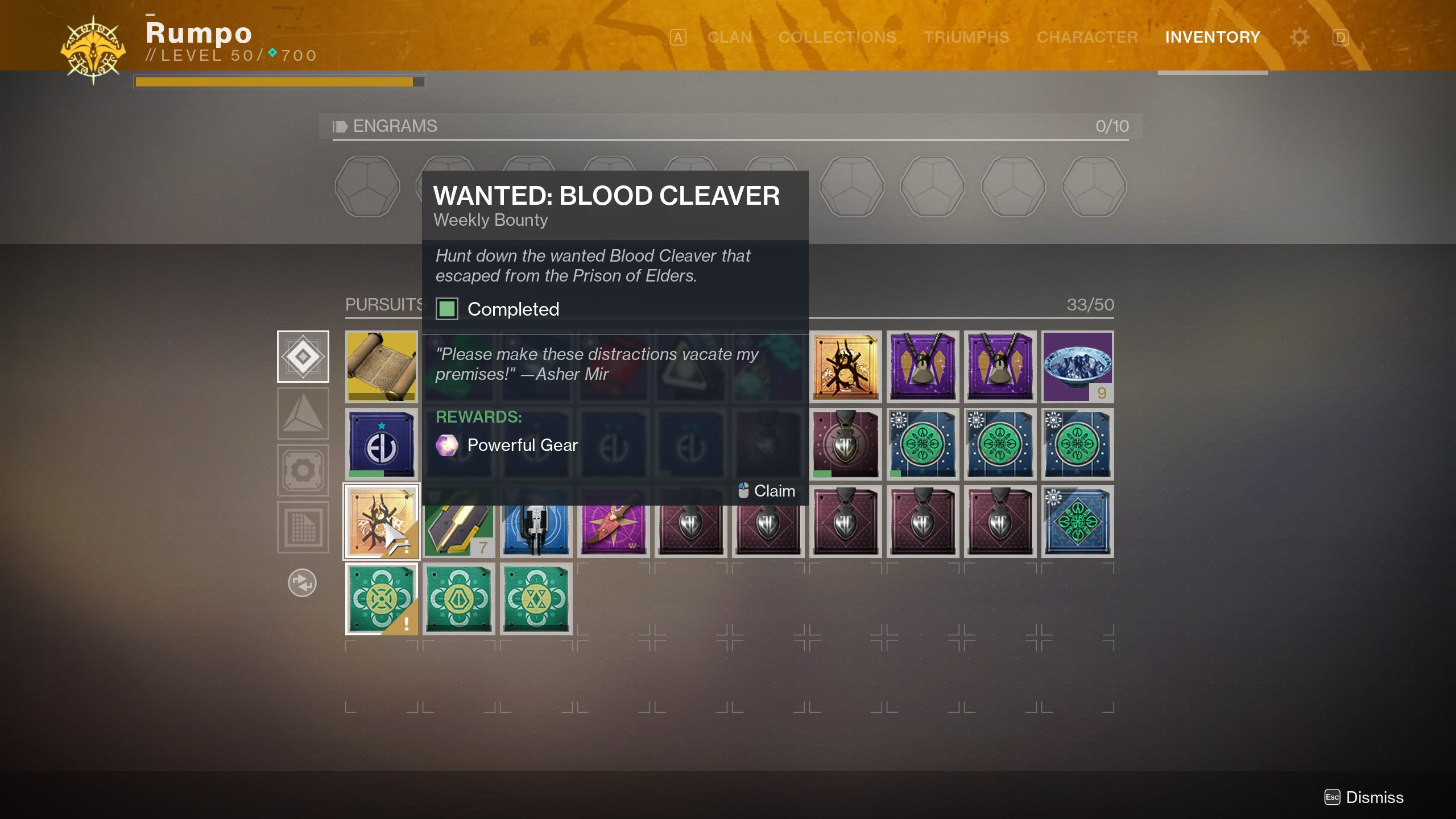 Wanted Blood Cleaver Bounty