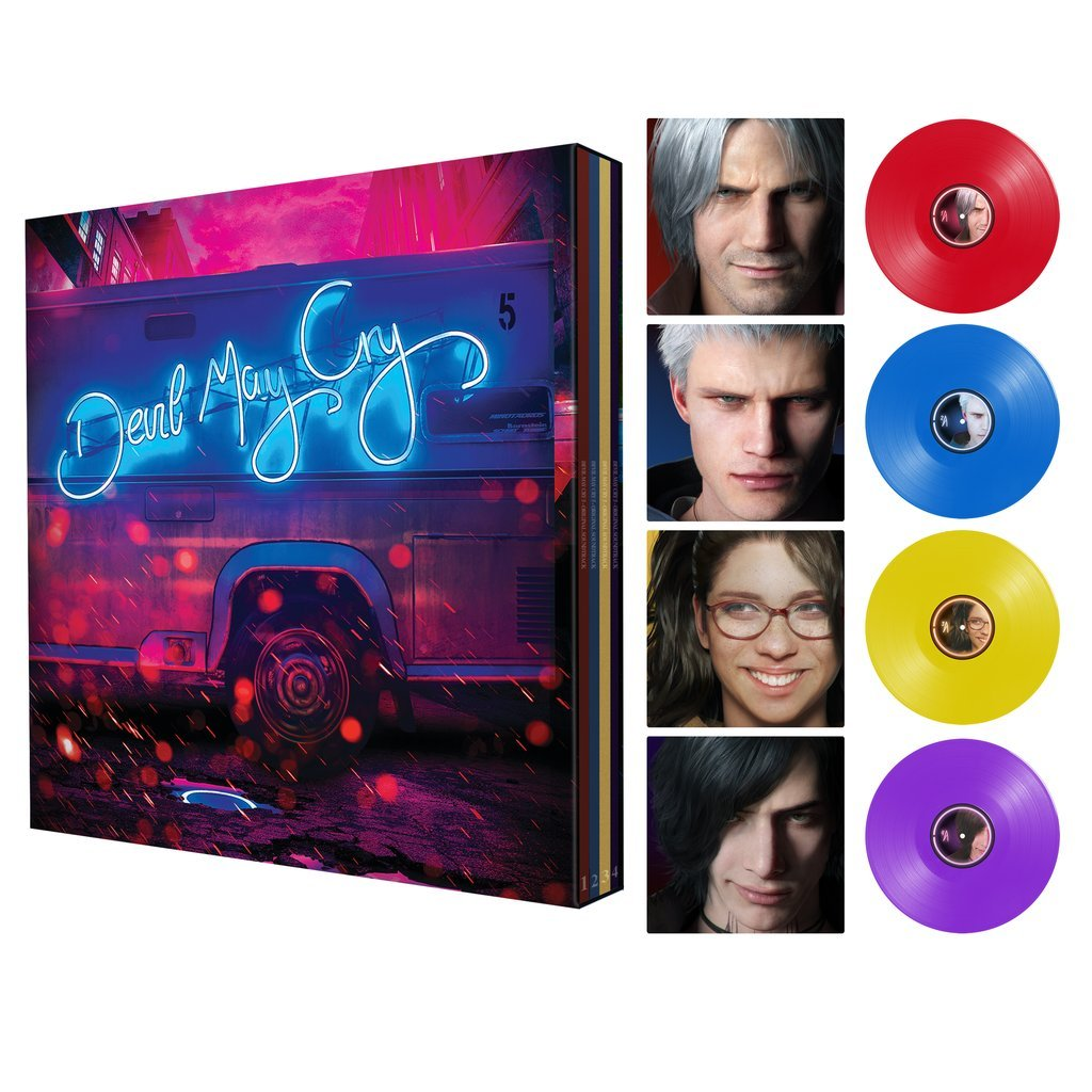 The Devil May Cry 5 Special Edition vinyl box set.