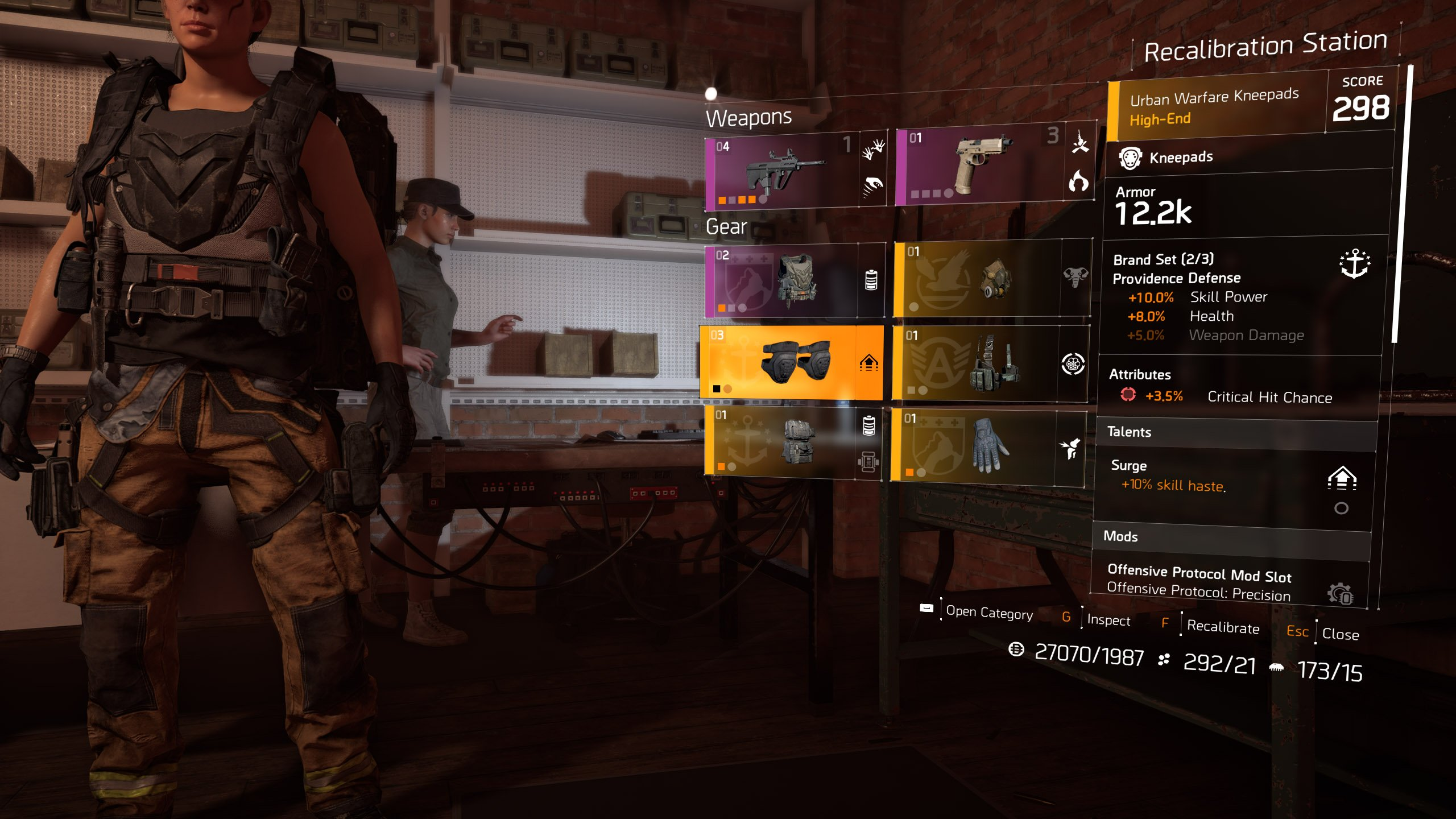 The Division 2 Recalibration Station