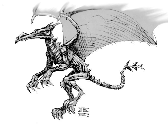 Illustration of a Drake from EverQuest
