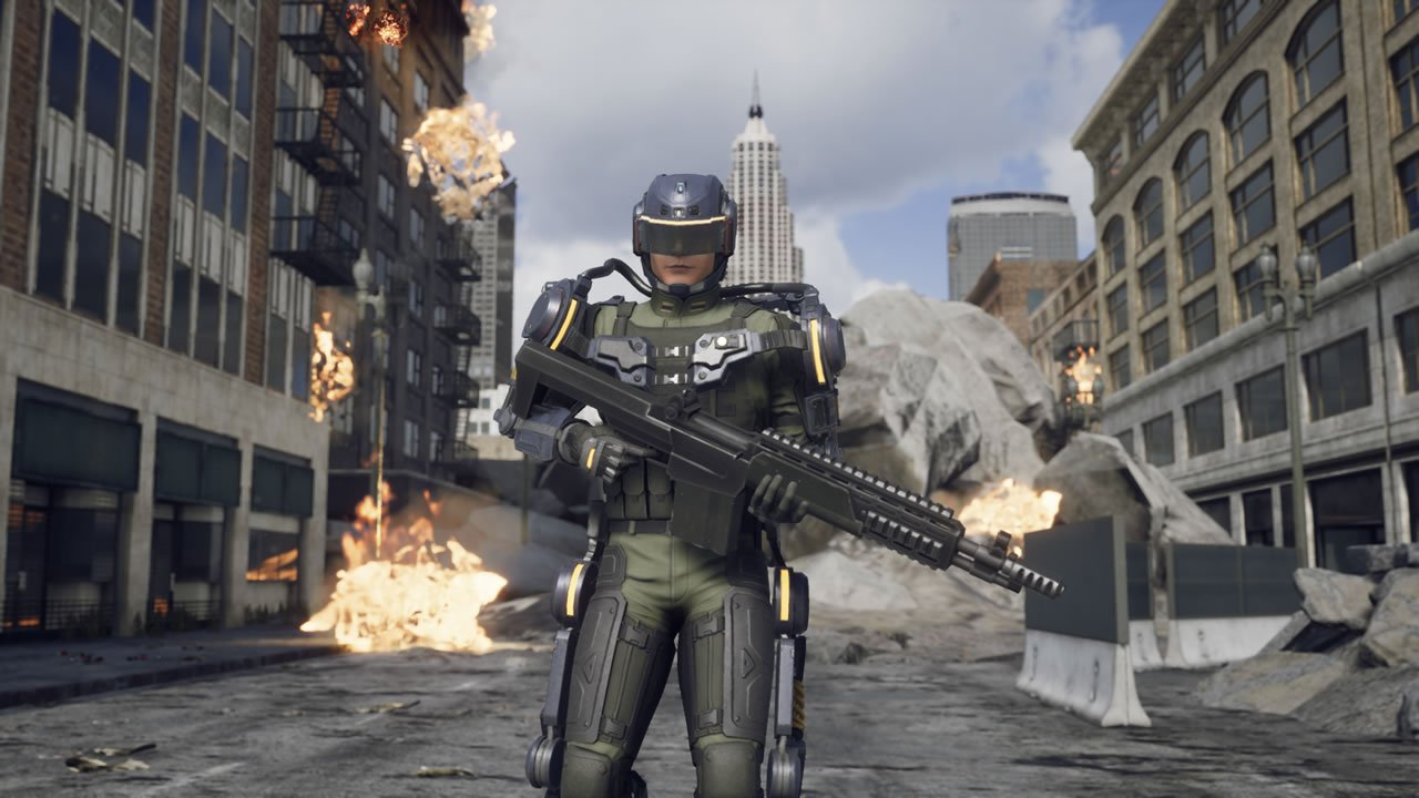 Trooper class in Earth Defense Force: Iron Rain