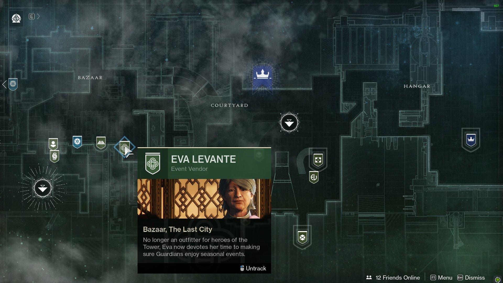 Eva Levante location Destiny 2
