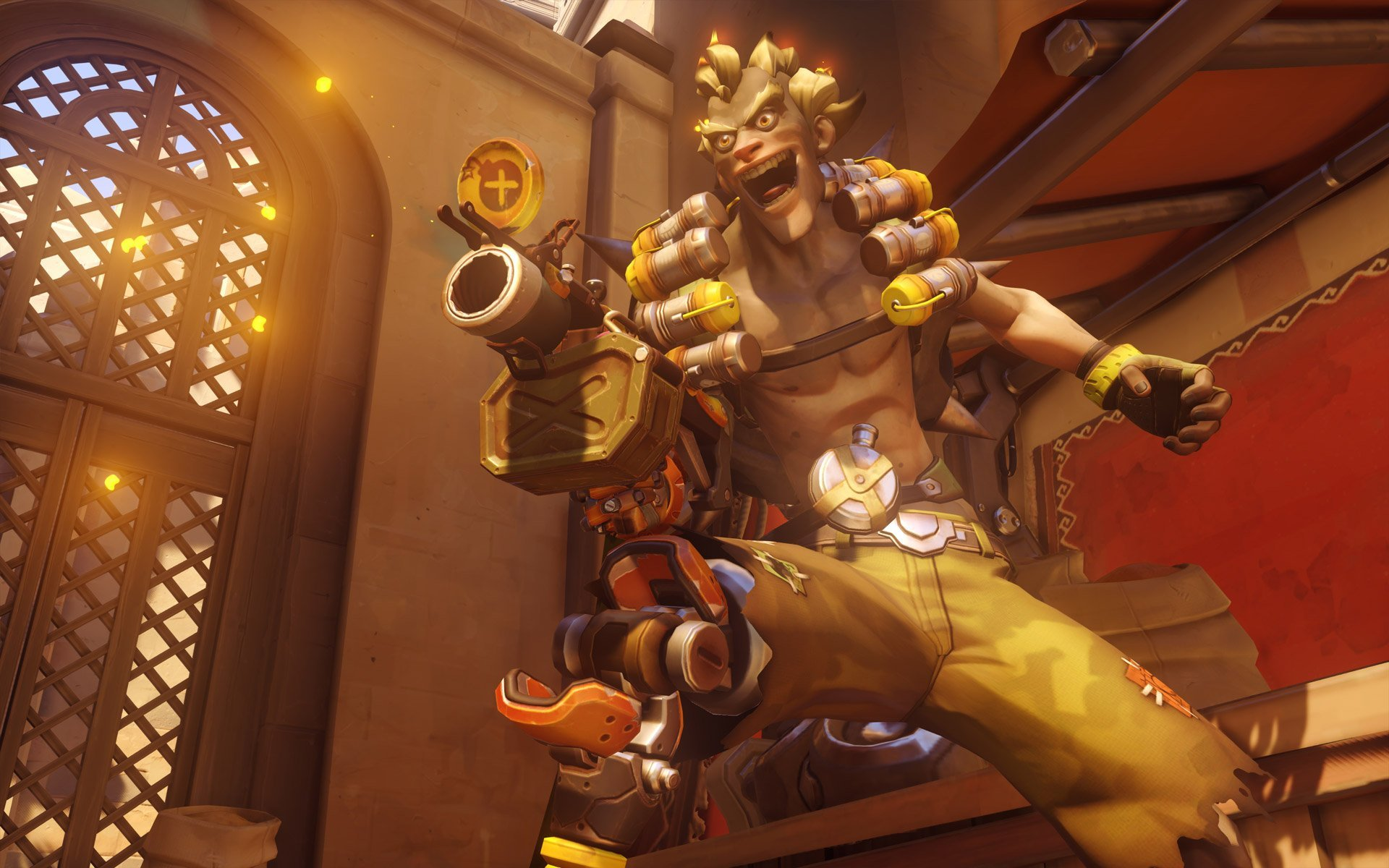 Junkrat in all his glory.