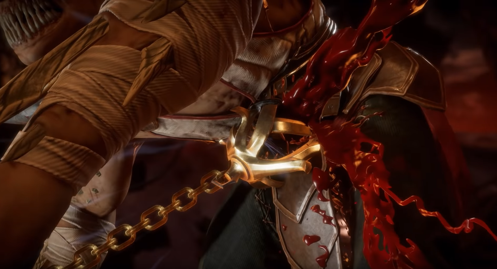 Kollector's gold melee weapon unleashes serious damage.