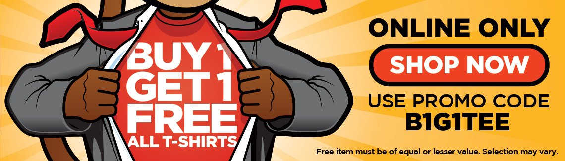 ThinkGeek's T-shirt sale is going on now.