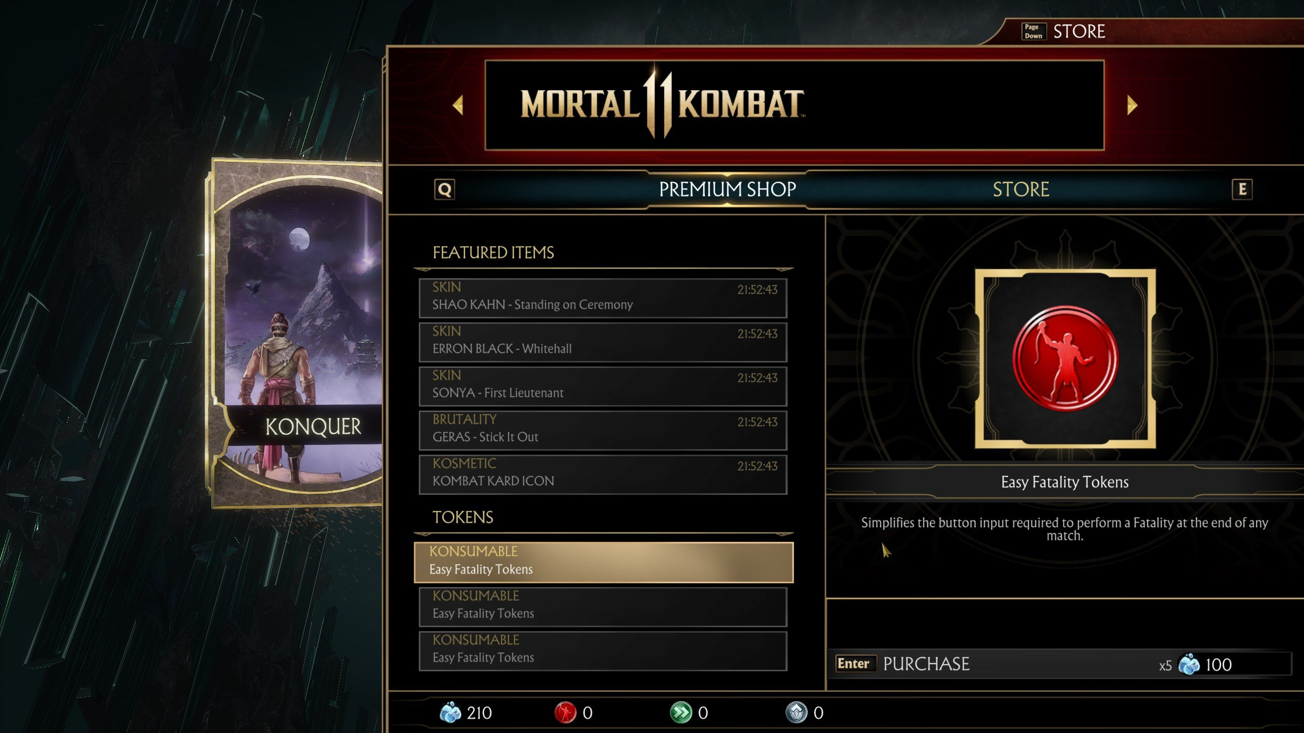 How to get more Easy Fatality Tokens in Mortal Kombat 11