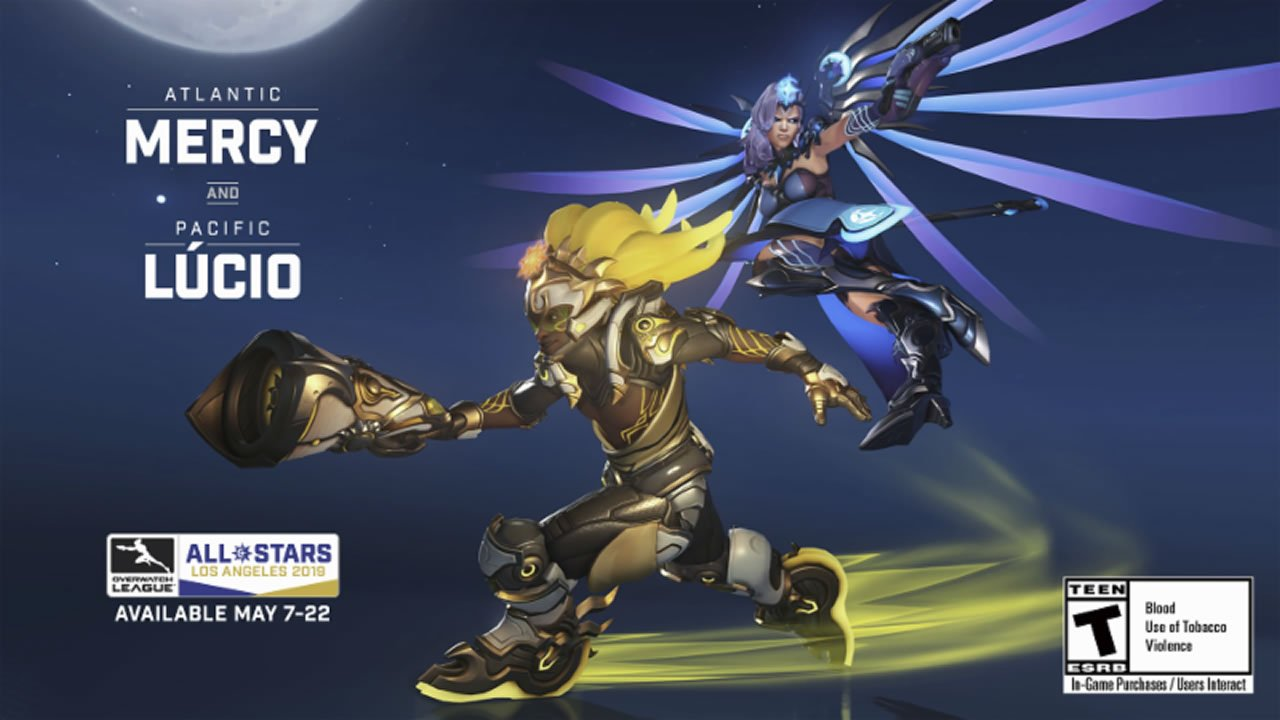 Overwatch League All-Star Legendary skins Mercy Lucio