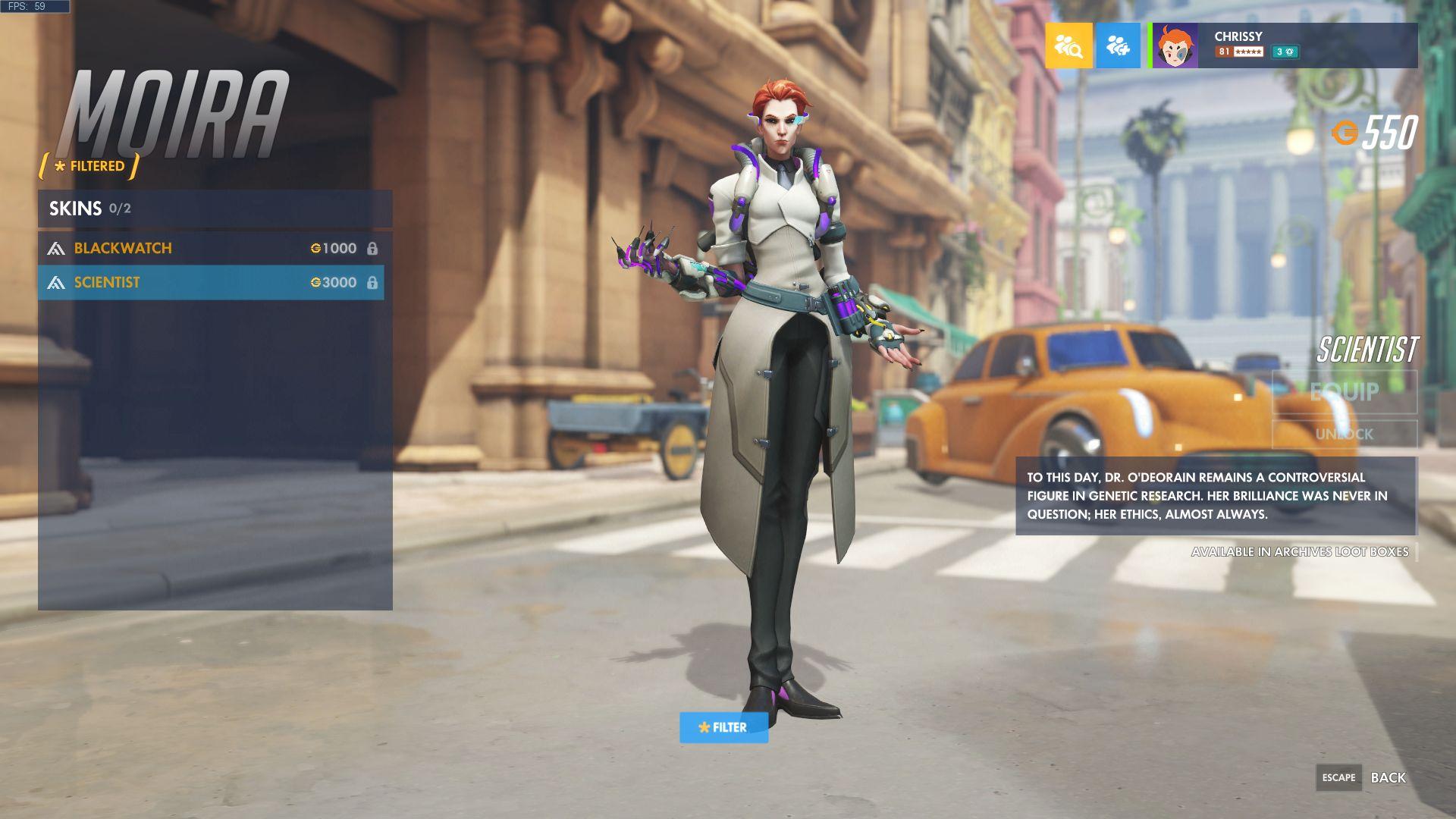 Overwatch Moira Scientist skin