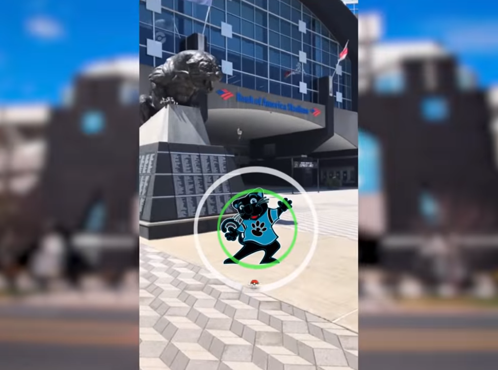 Pokemon Go was one of the games that got a Panthers shout out.
