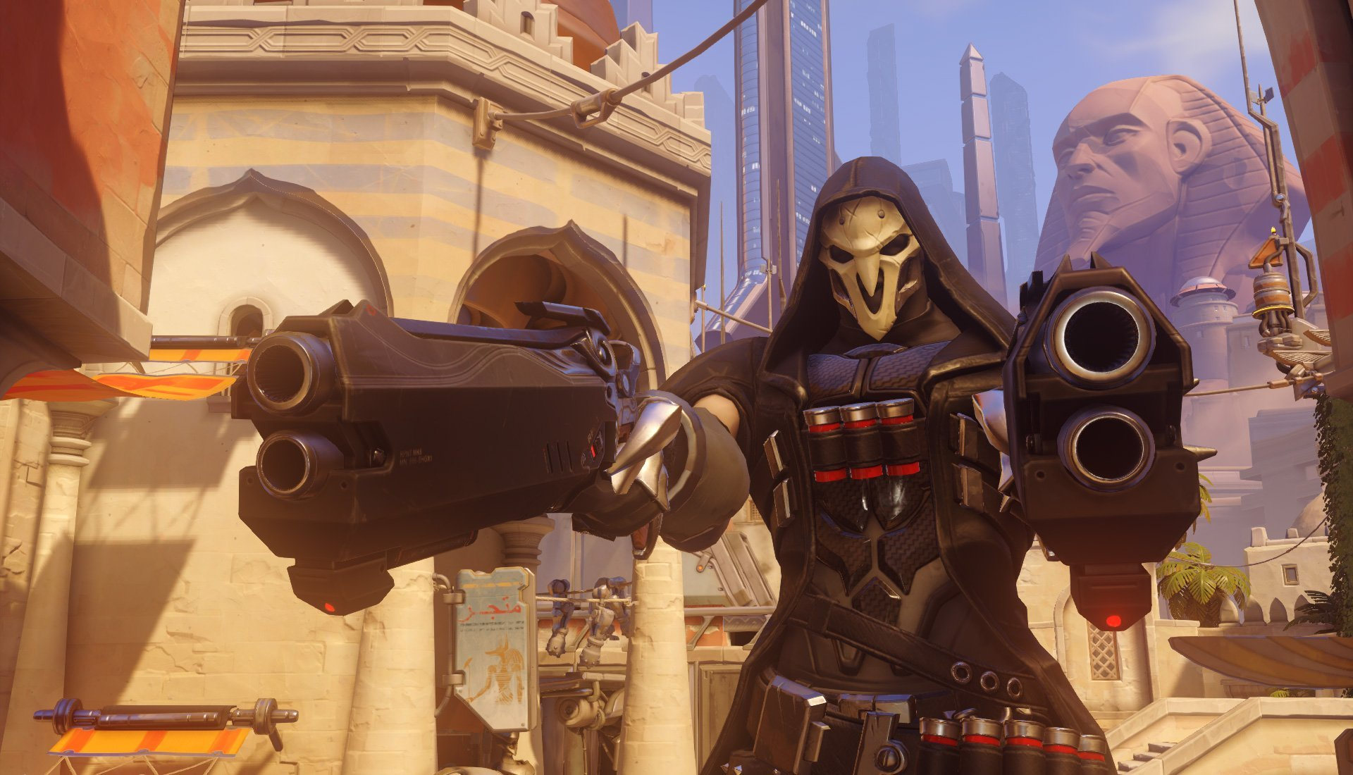 Reaper has his goth style on fleek.