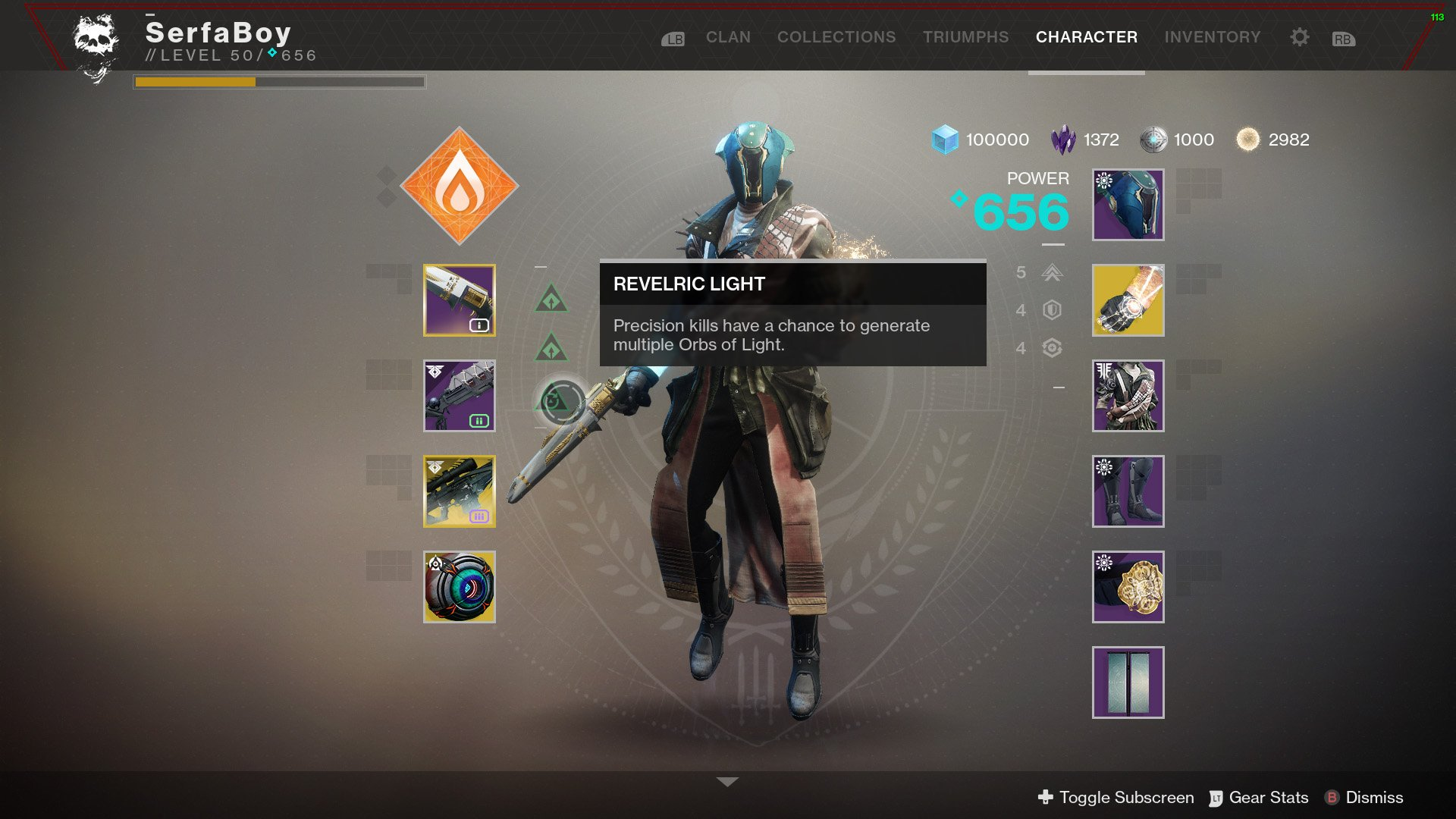 Revelric Light Destiny 2