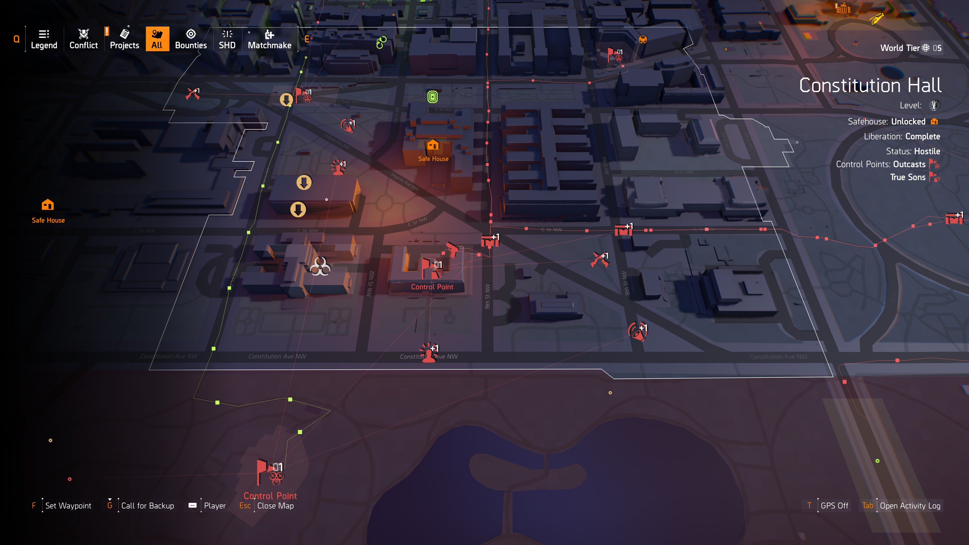 how to increase control point alert level in The Division 2