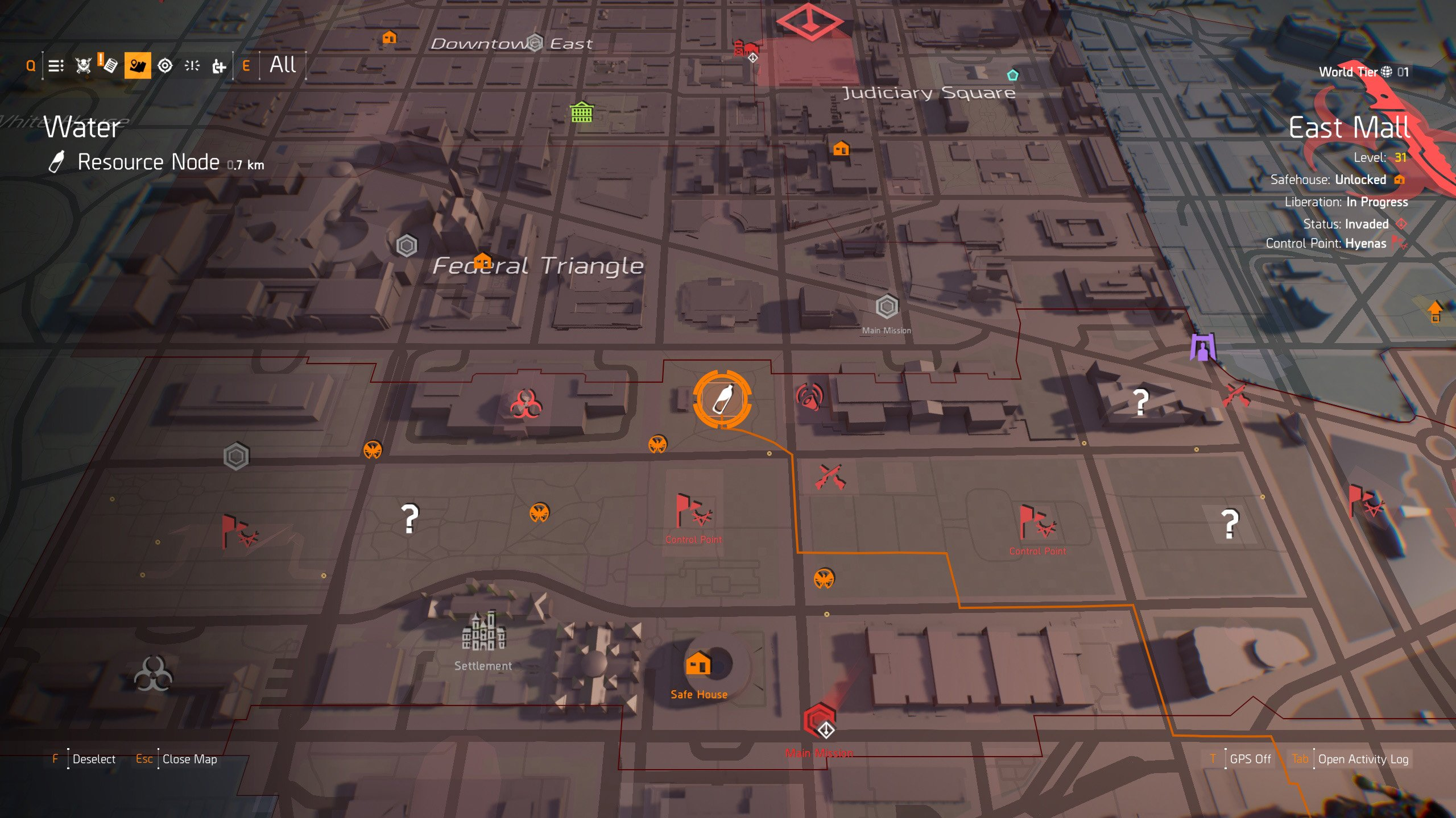 Diamond, Cross, Phantom and Death Hunter Mask location in The Division 2