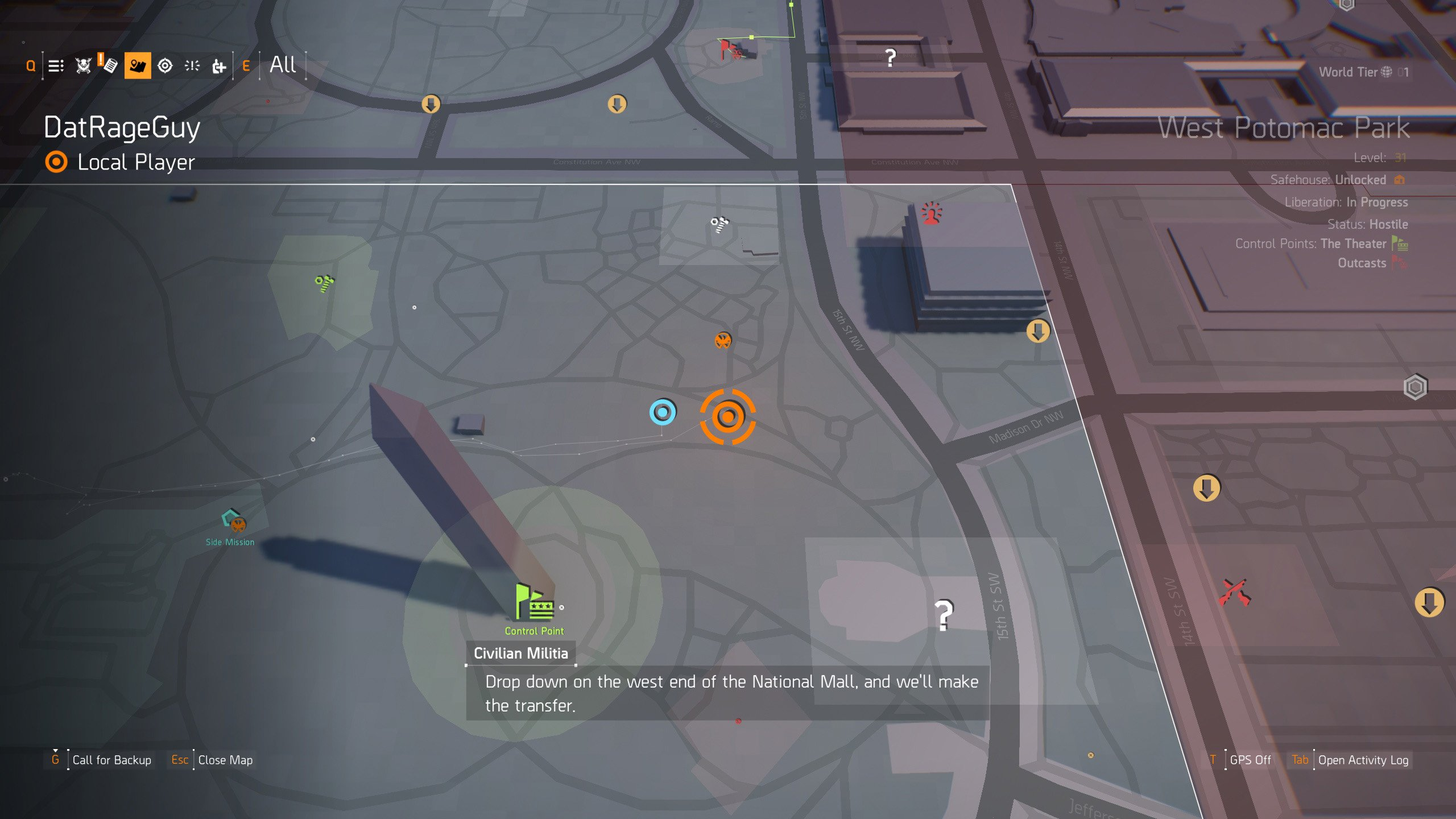 The Division 2 Hunter Masks - second grave location