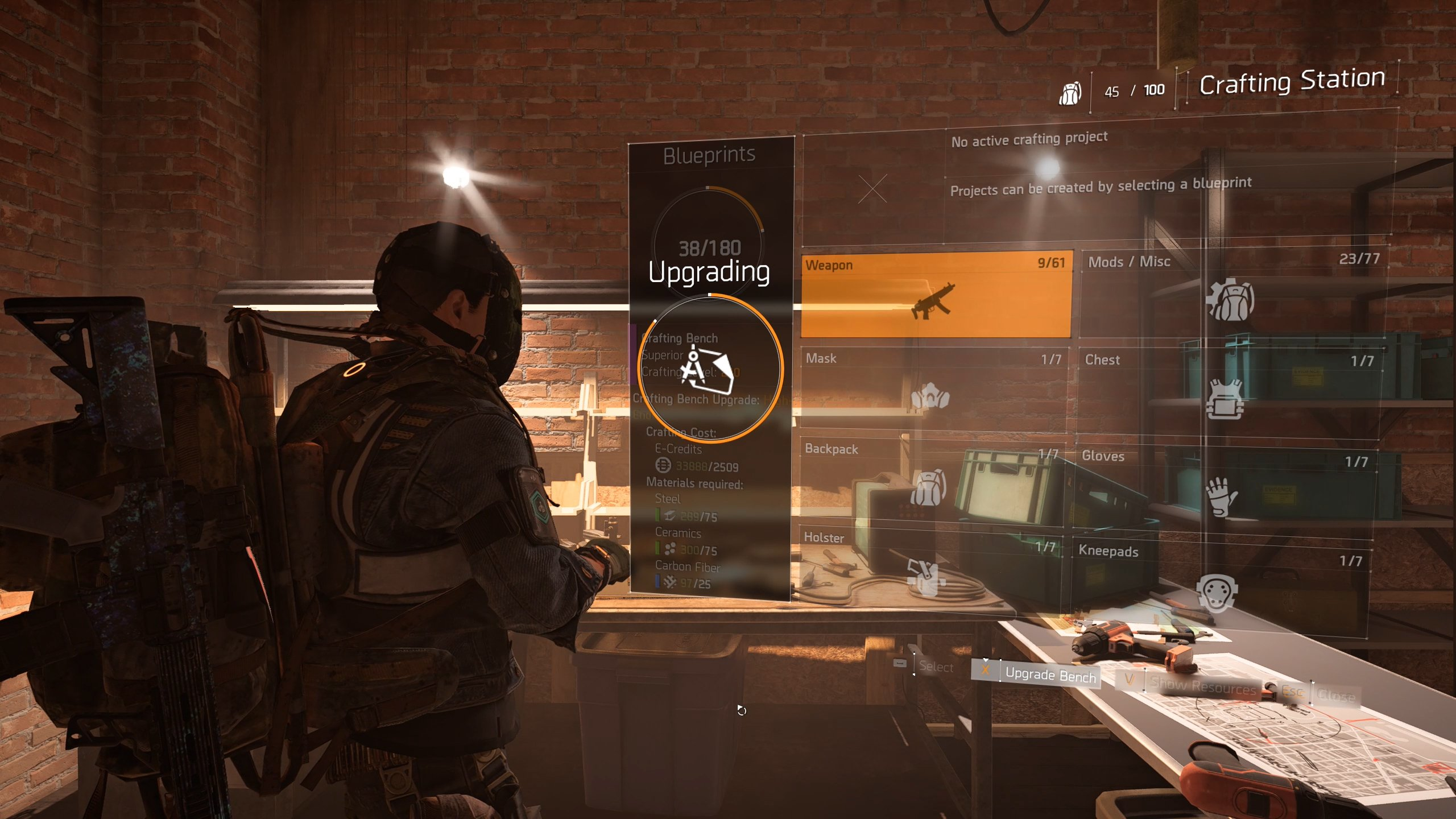 Upgrade the Crafting Station in The Division 2 - how to upgrade the crafting bench