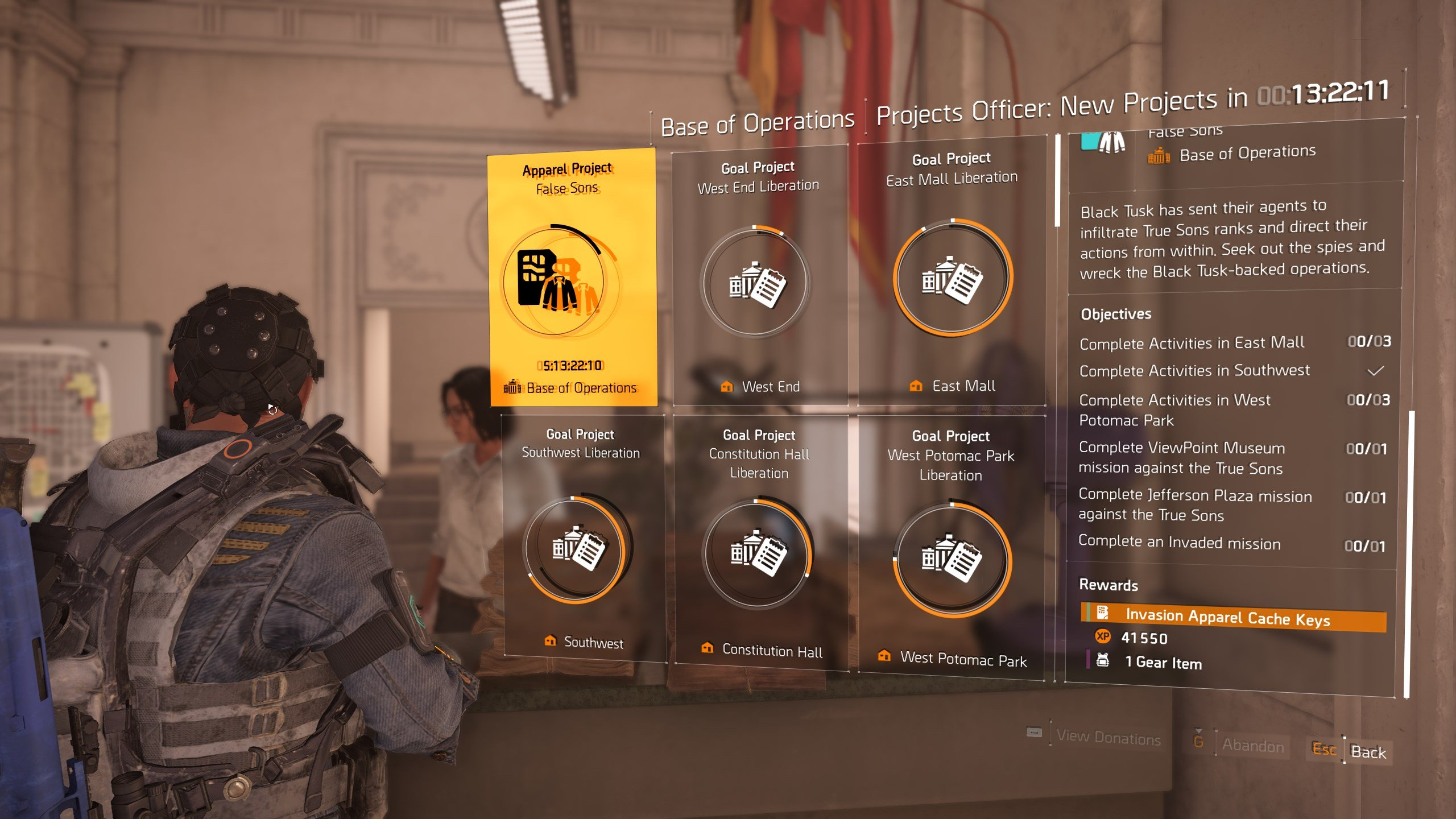 Get all apparel in The Division 2 invasion apparel event - Apparel Weekly Projects