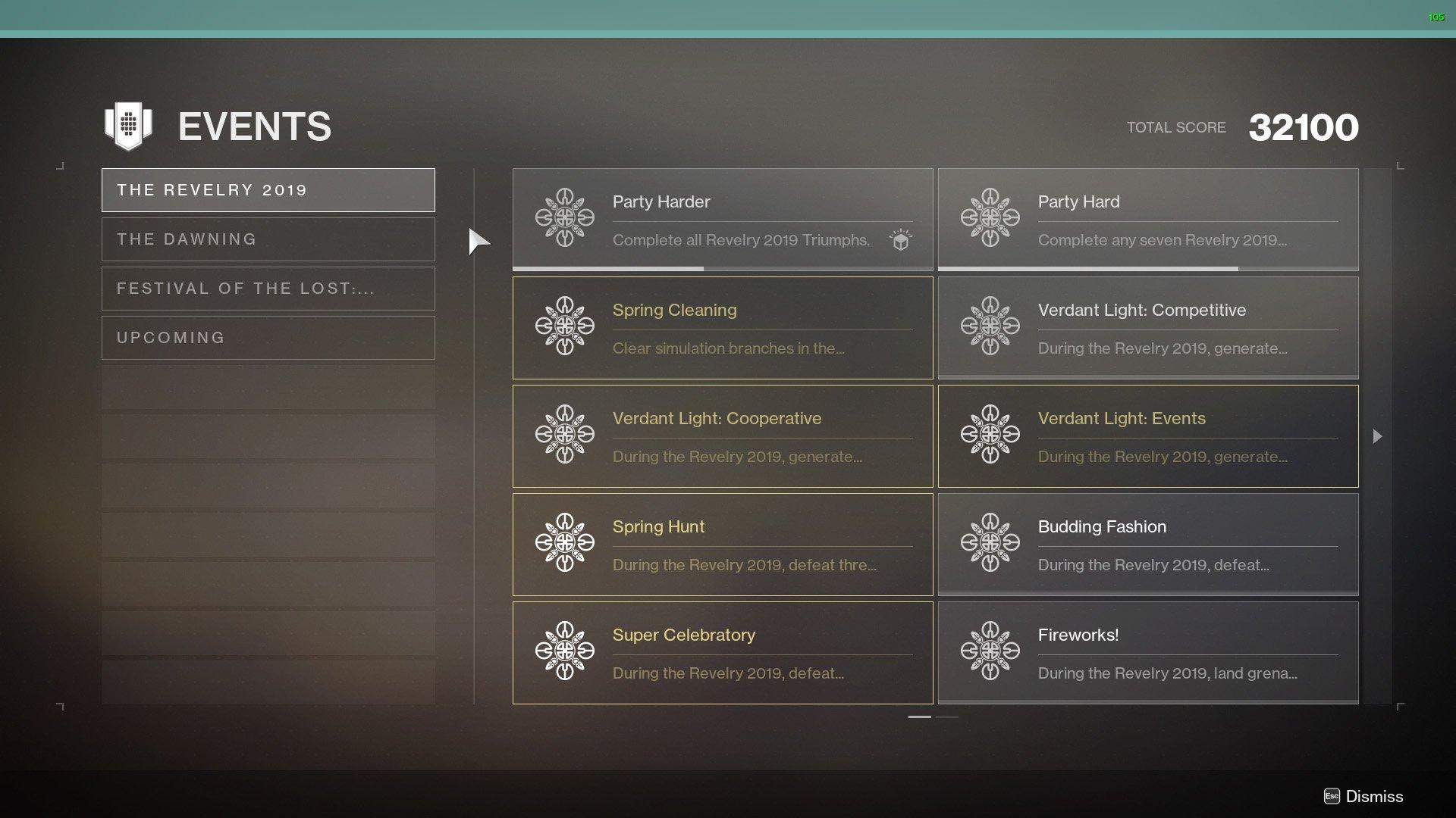 Revelry Triumphs Destiny 2