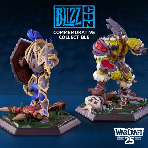 The new Warcraft statues you can get with your ticket.