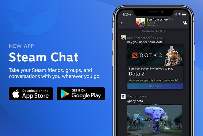 The new Steam Chat app is here.