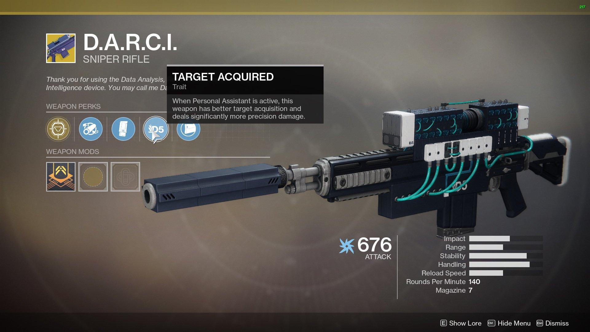 DARCI Destiny 2