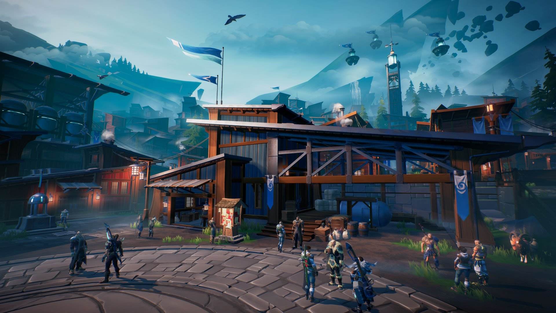 How to invite friends to a party in Dauntless - Ramsgate social hub