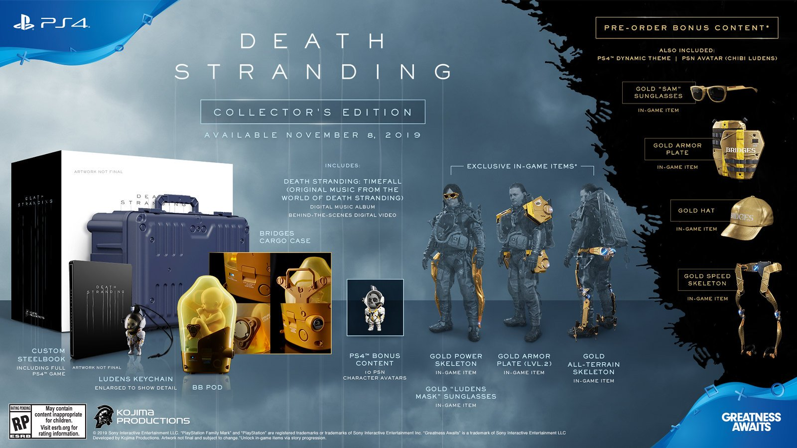 Death Stranding Collector's Edition diffferences preorder bonuses