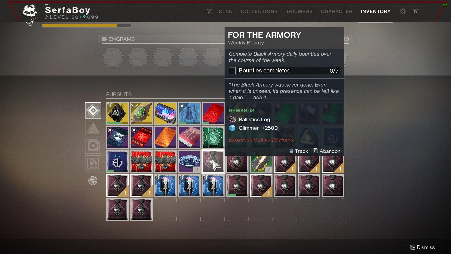 Destiny 2 Black Armory bounties