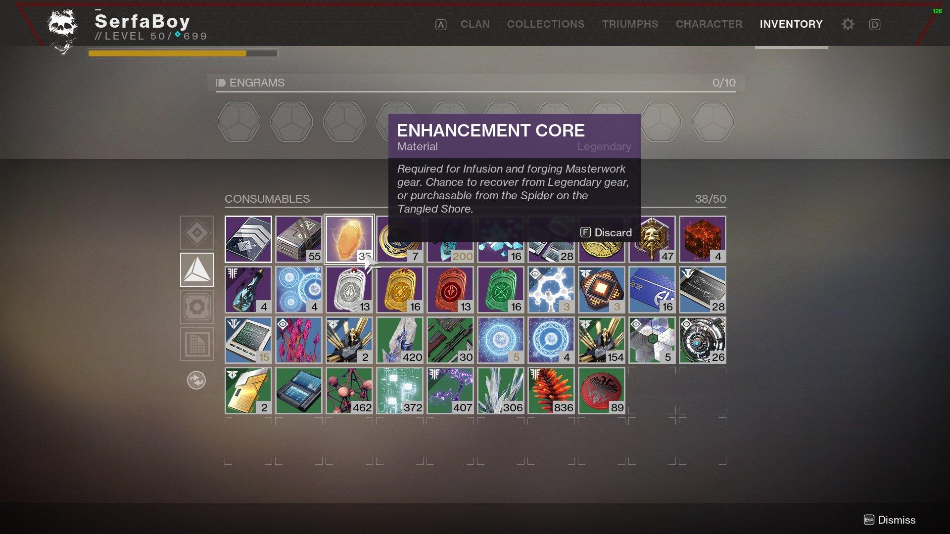 Destiny 2 Enhancement Cores