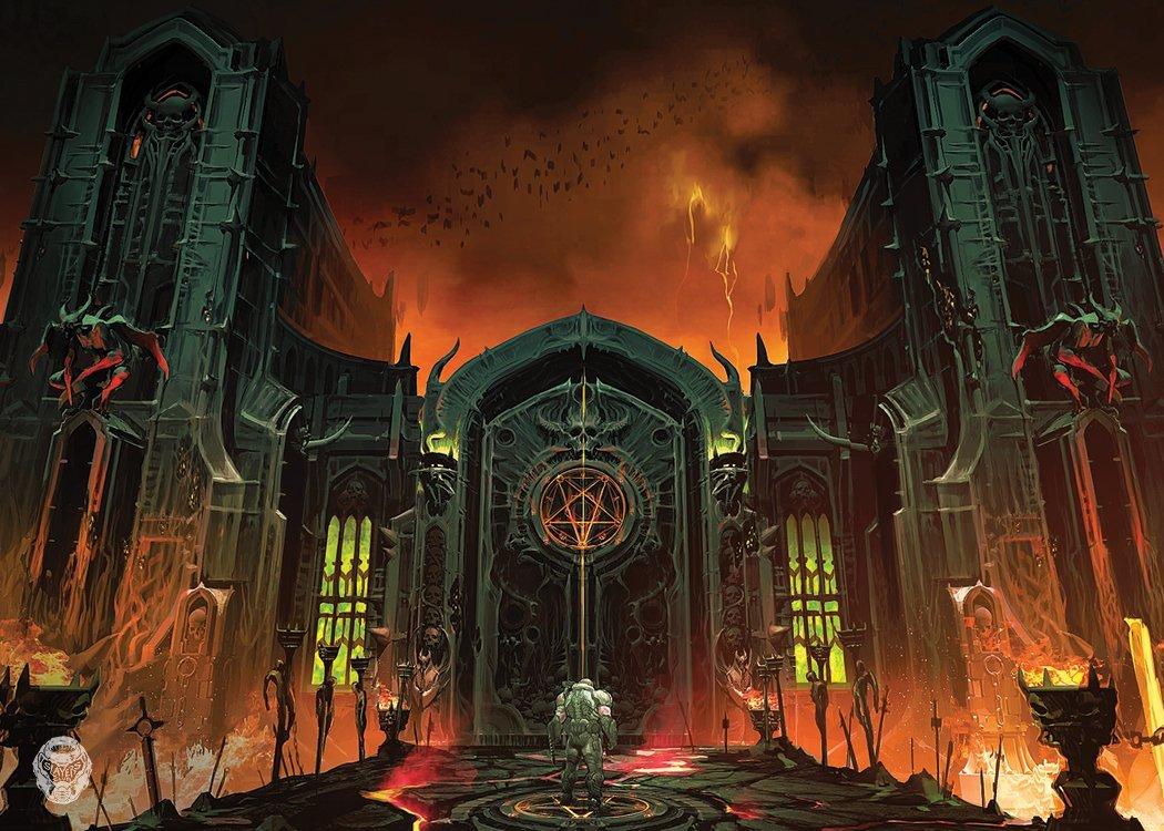 """New Doom Eternal concept art shows off """"Hell's gate"""""""