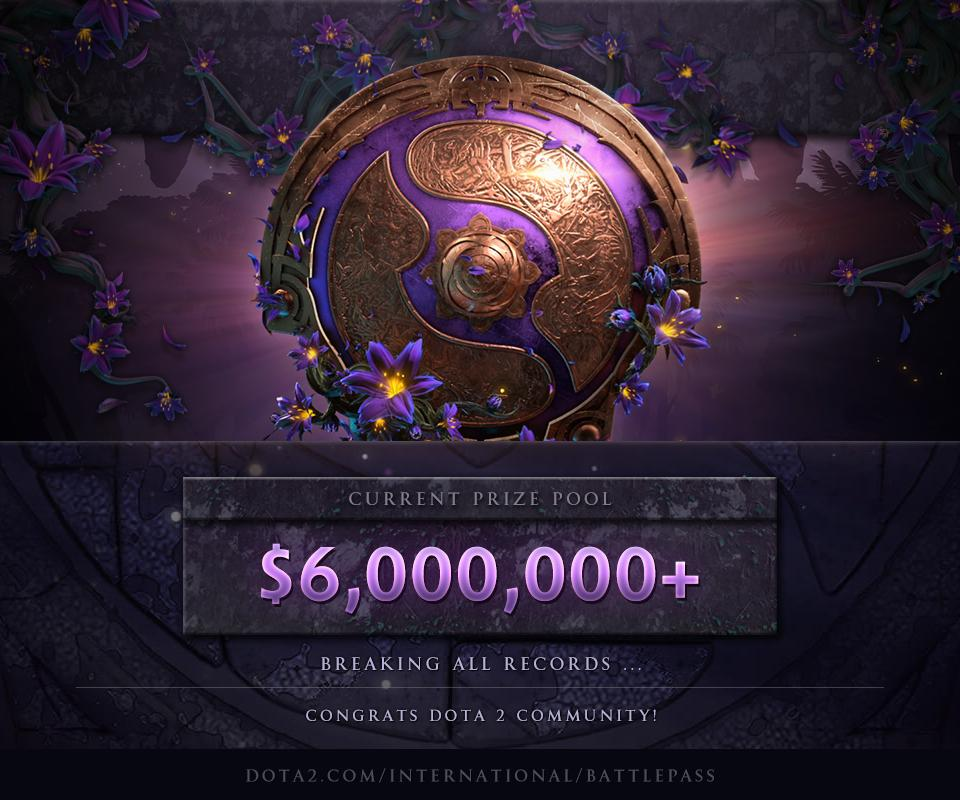The Dota 2 International Tournament Prize Pool has already broken last year's record by over $2 million
