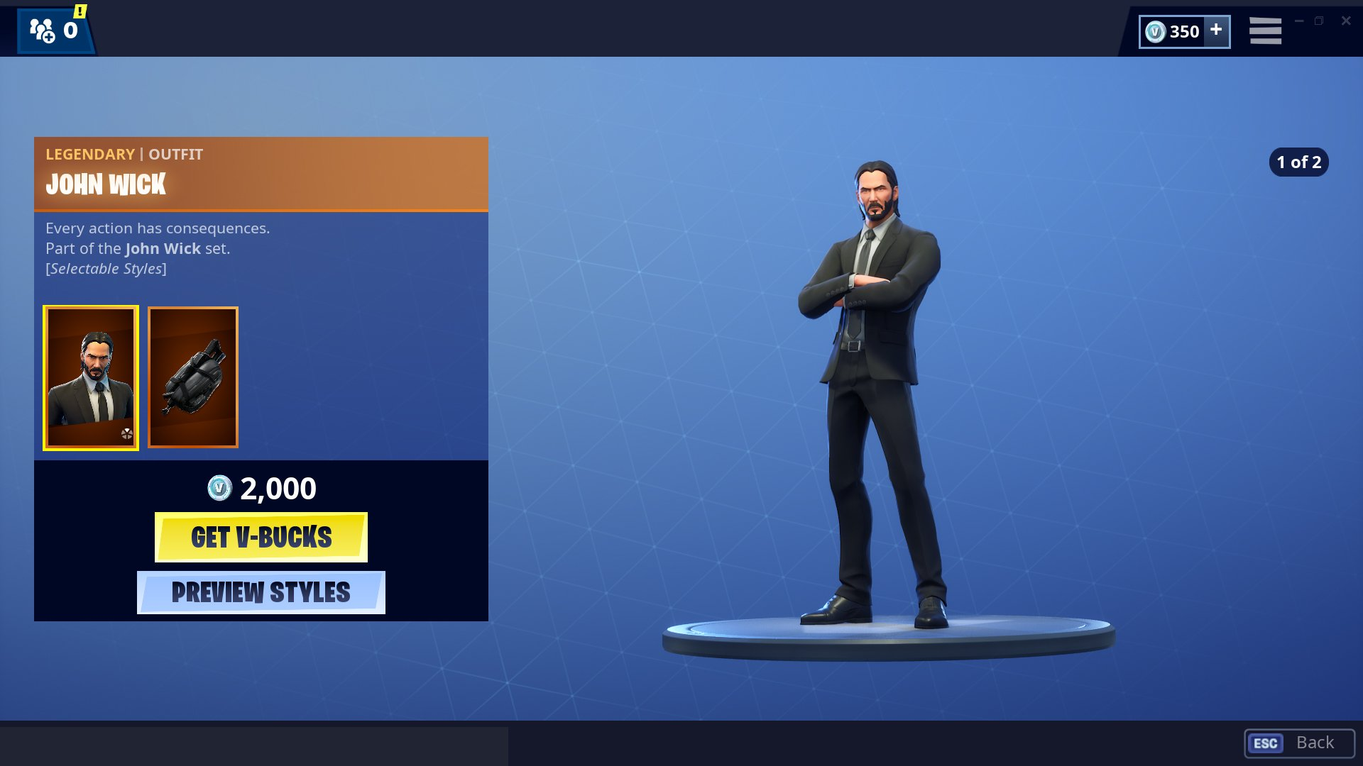 John Wick skin Fortnite